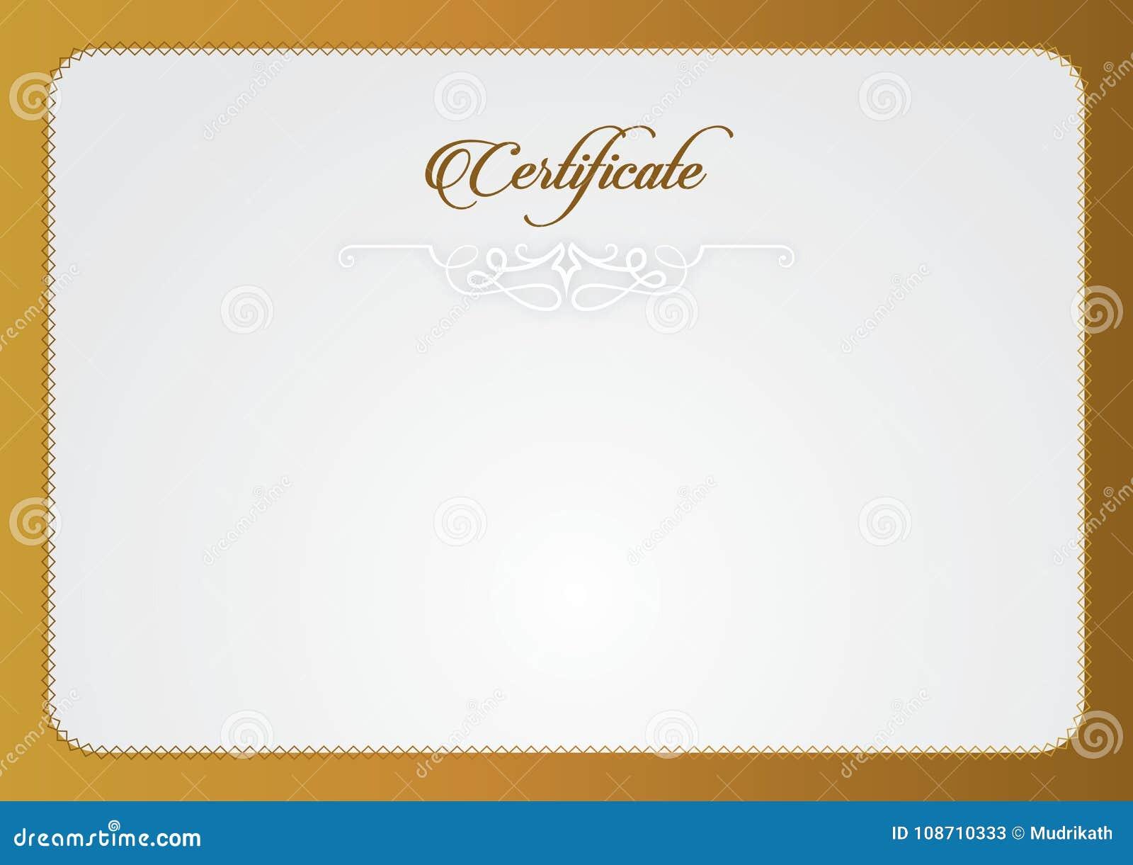 Molde do certificado O tamanho do certificado A4, certificado apresenta certificado