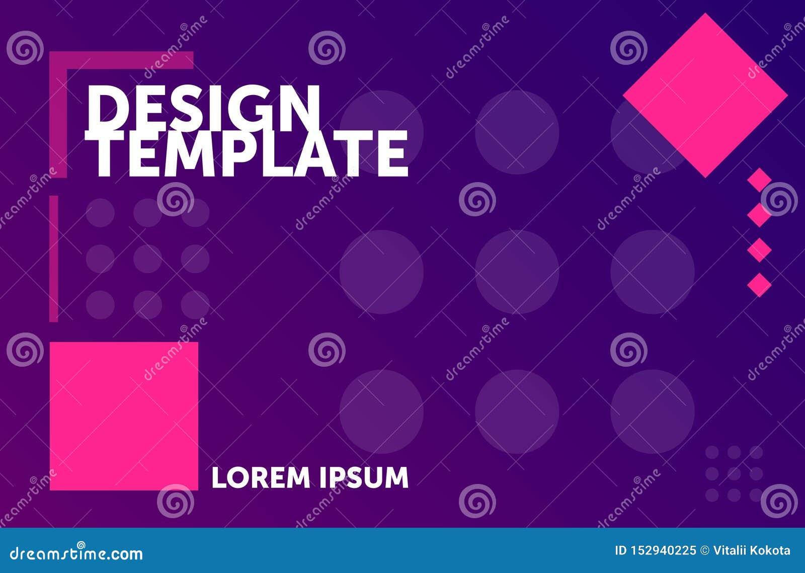 Molde do design web Fundo geom?trico m?nimo Composi??o abstrata colorida