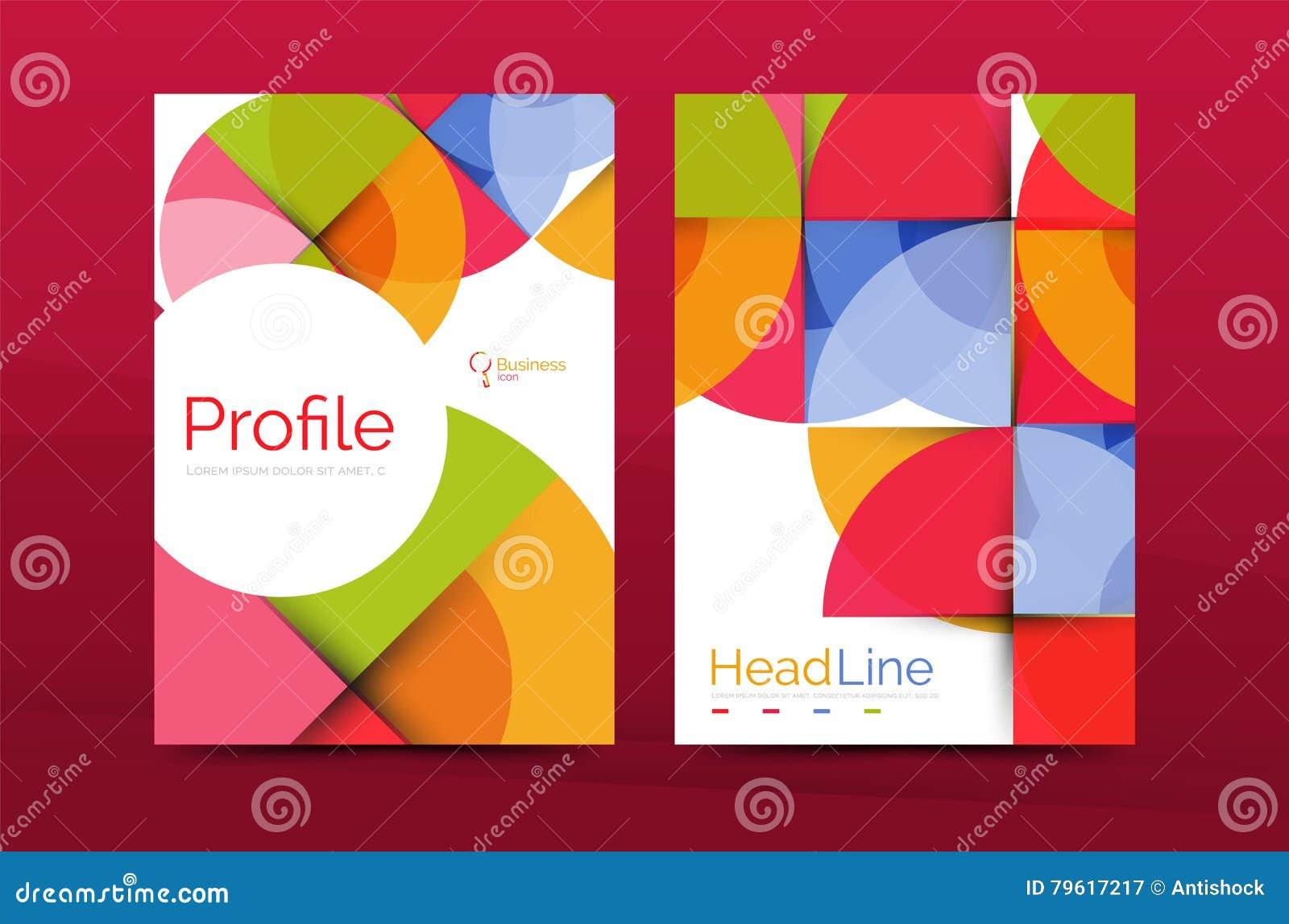 Molde do folheto do perfil da empresa do negócio