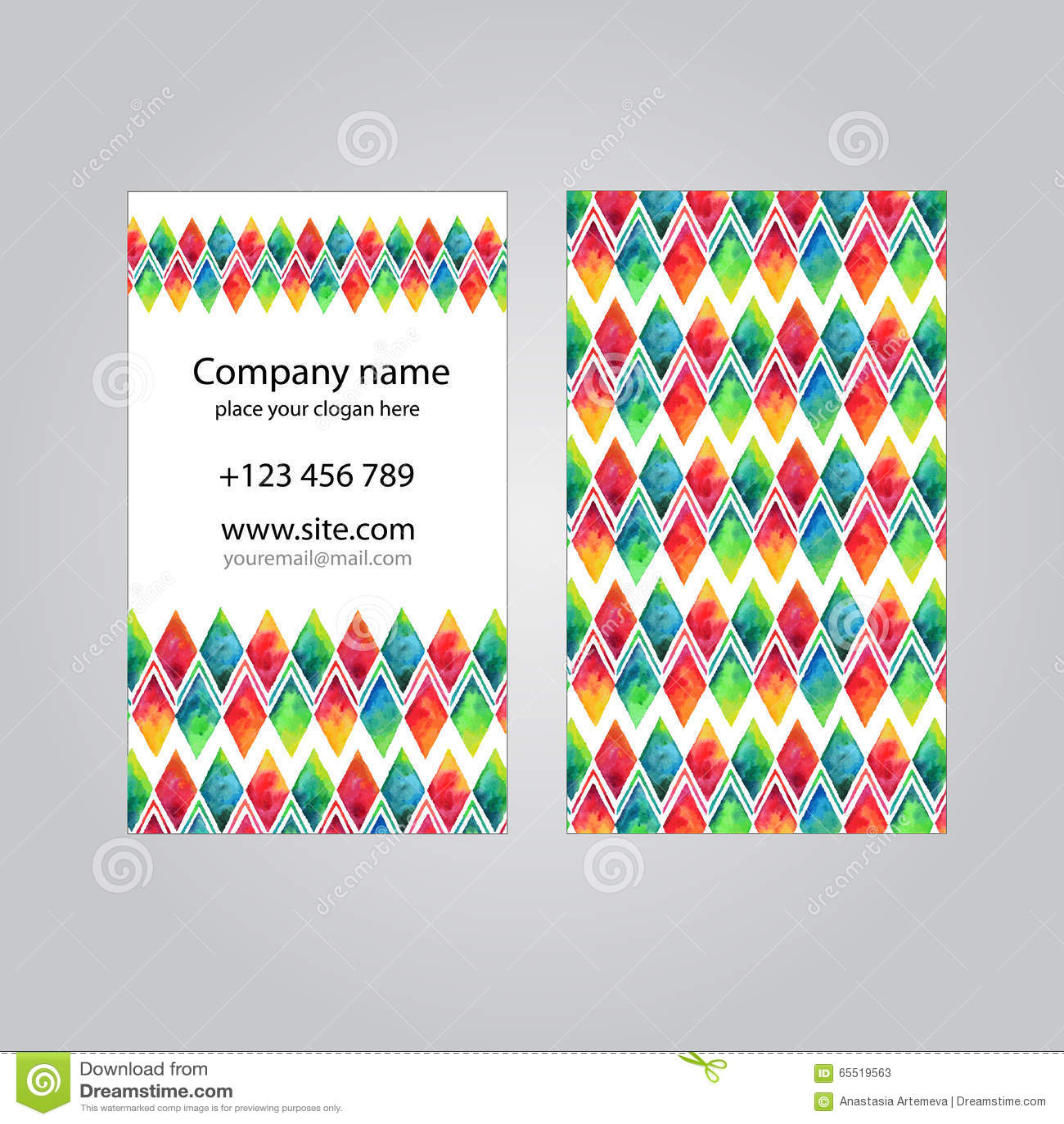 Molde do grupo de cartão da visita