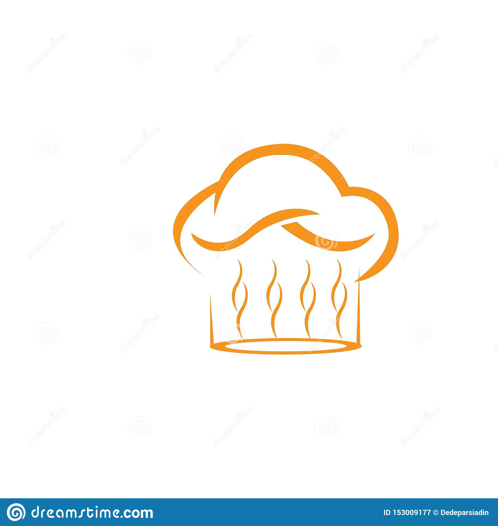 Molde do logotipo do cozinheiro chefe do chap?u