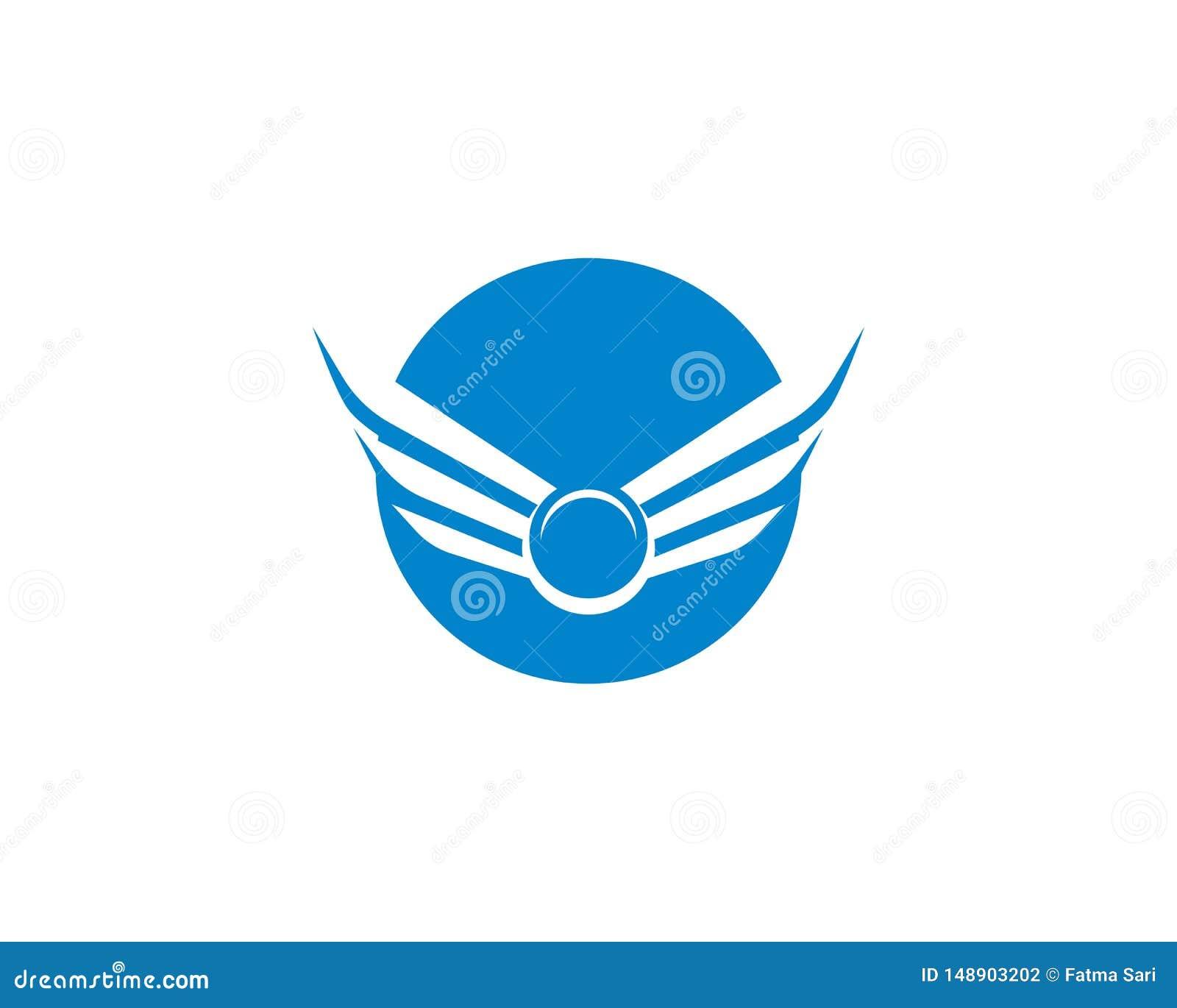 Molde do logotipo da asa