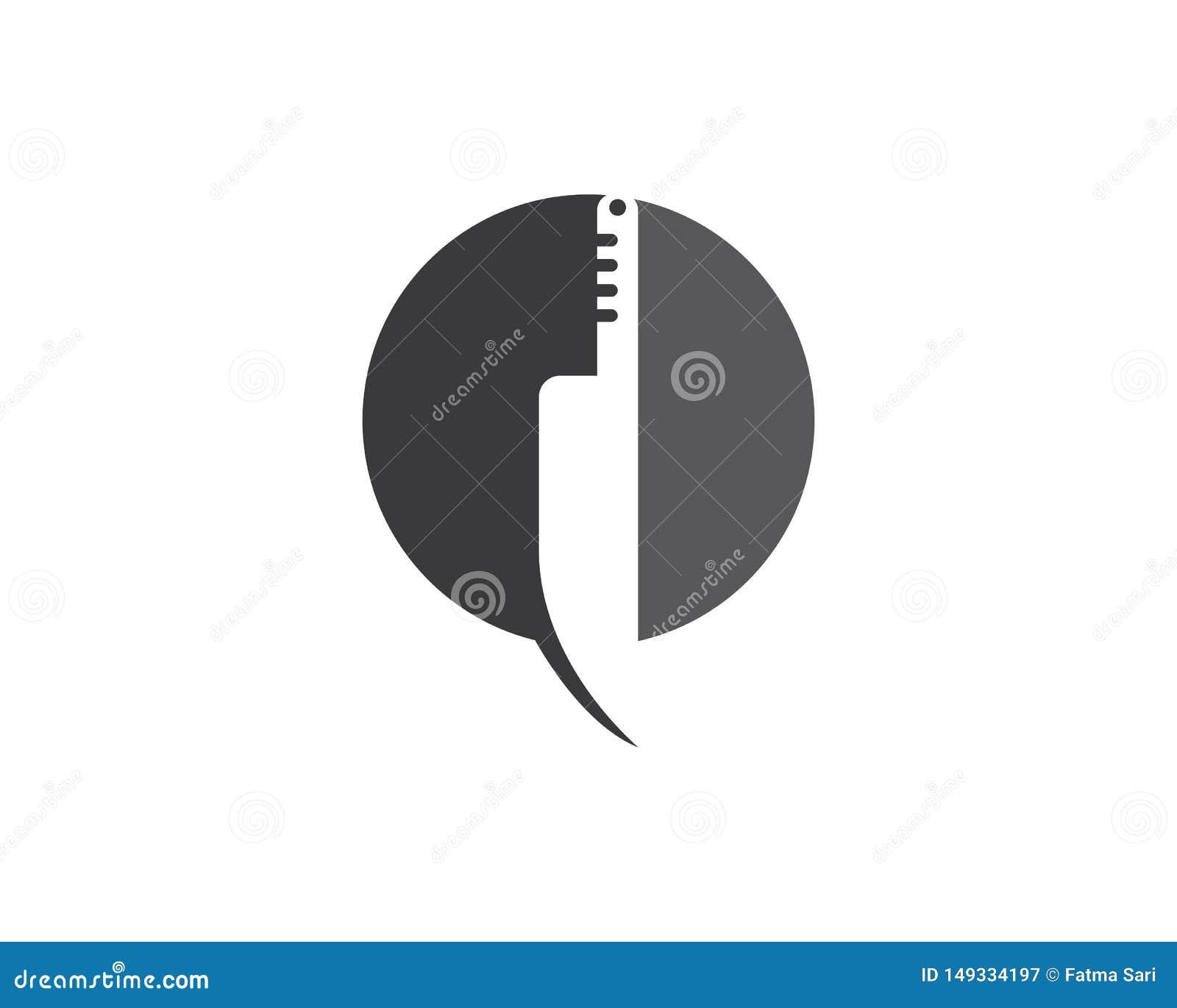Molde do logotipo da faca