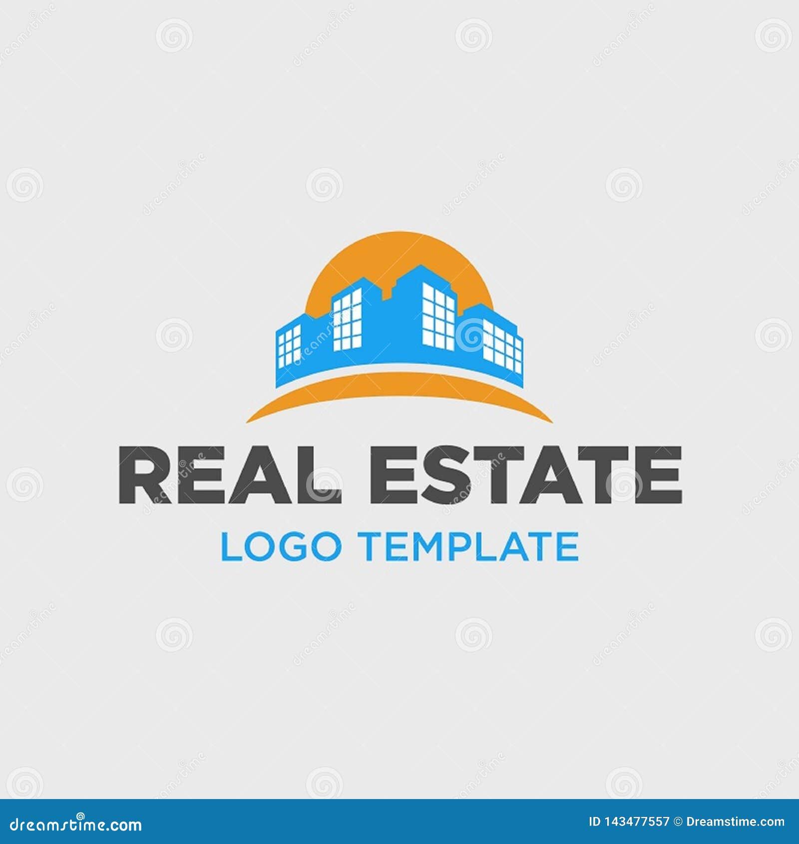 Molde do logotipo para a empresa de bens imobili?rios