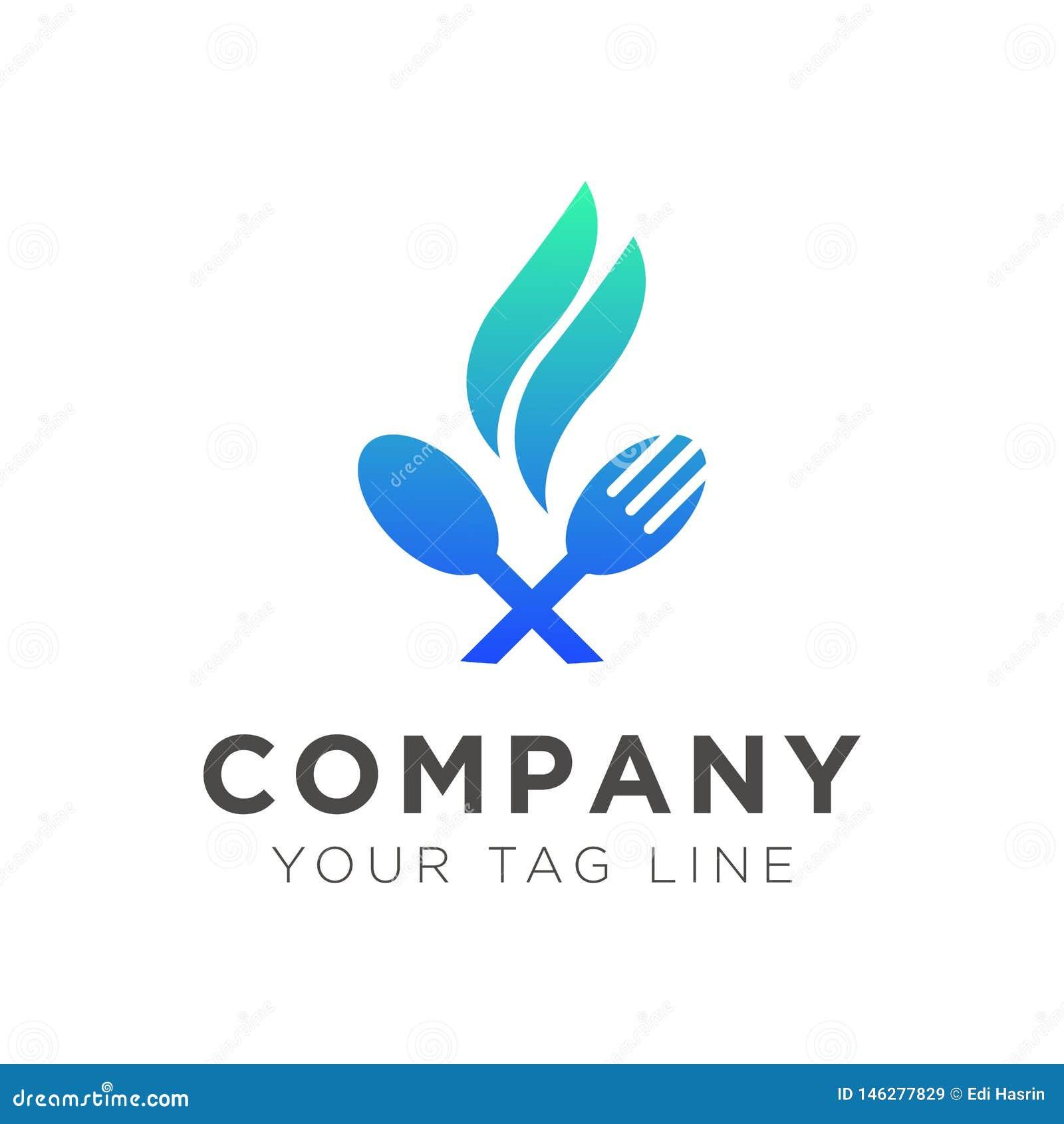 Molde do logotipo para restaurantes do alimento