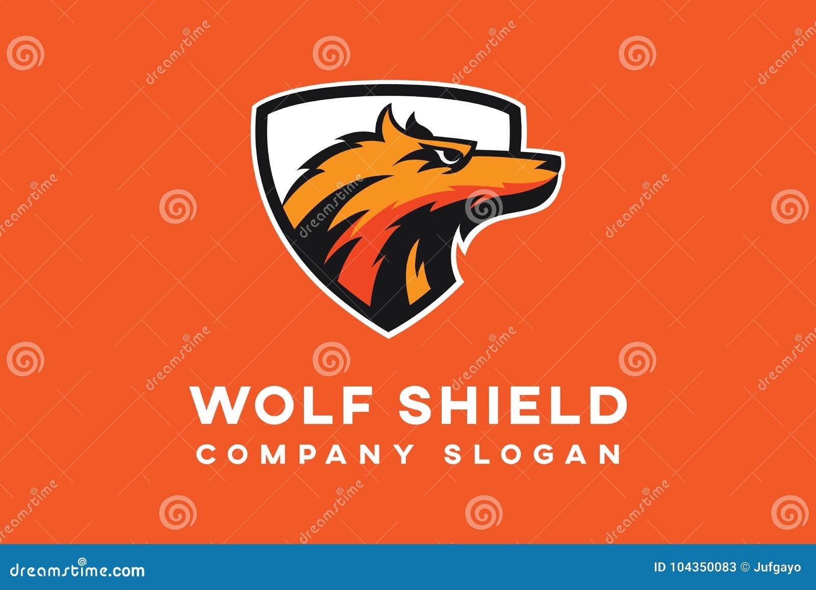Molde do logotipo do protetor do lobo