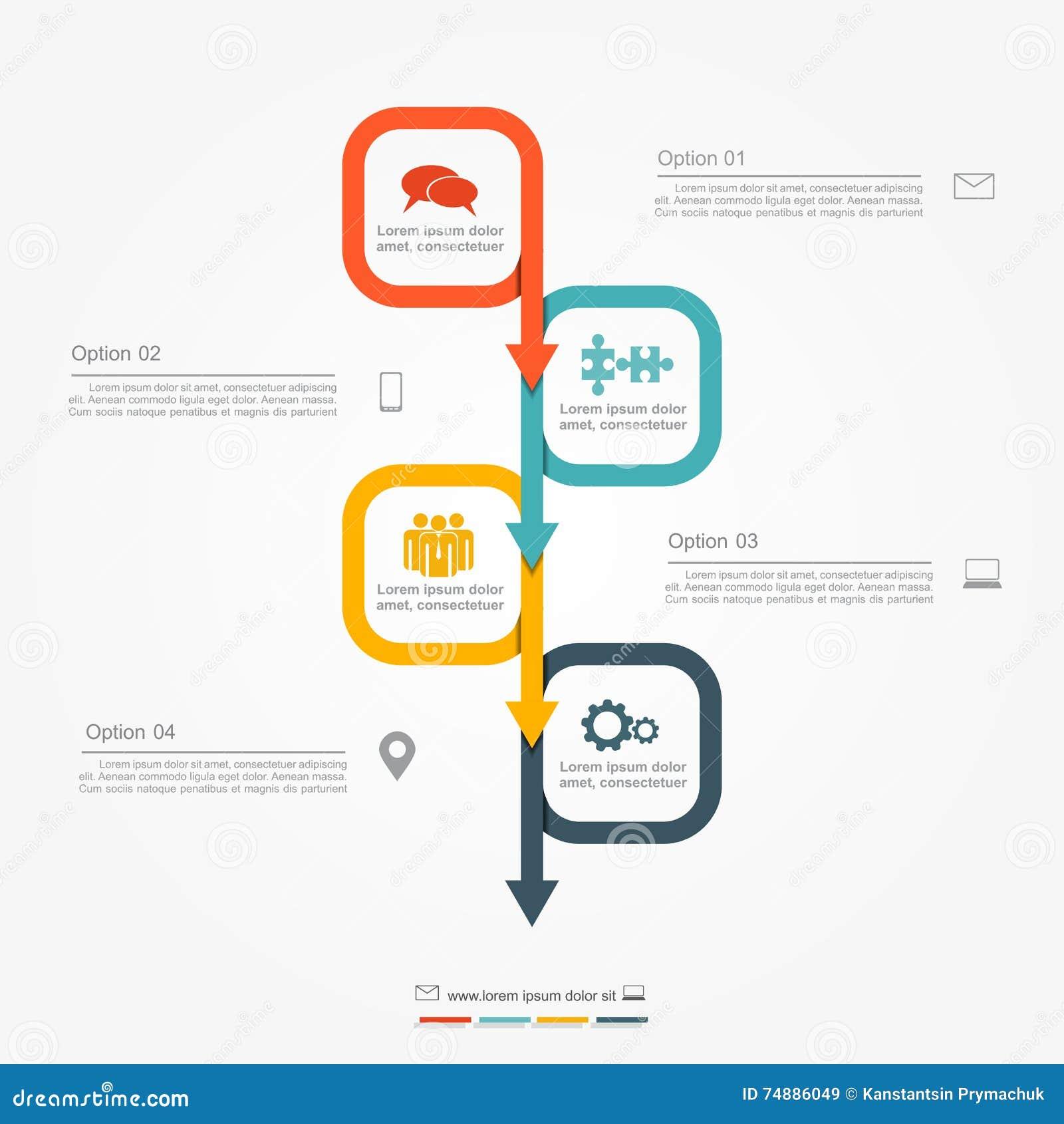Molde do projeto de Infographic Ilustração do vetor
