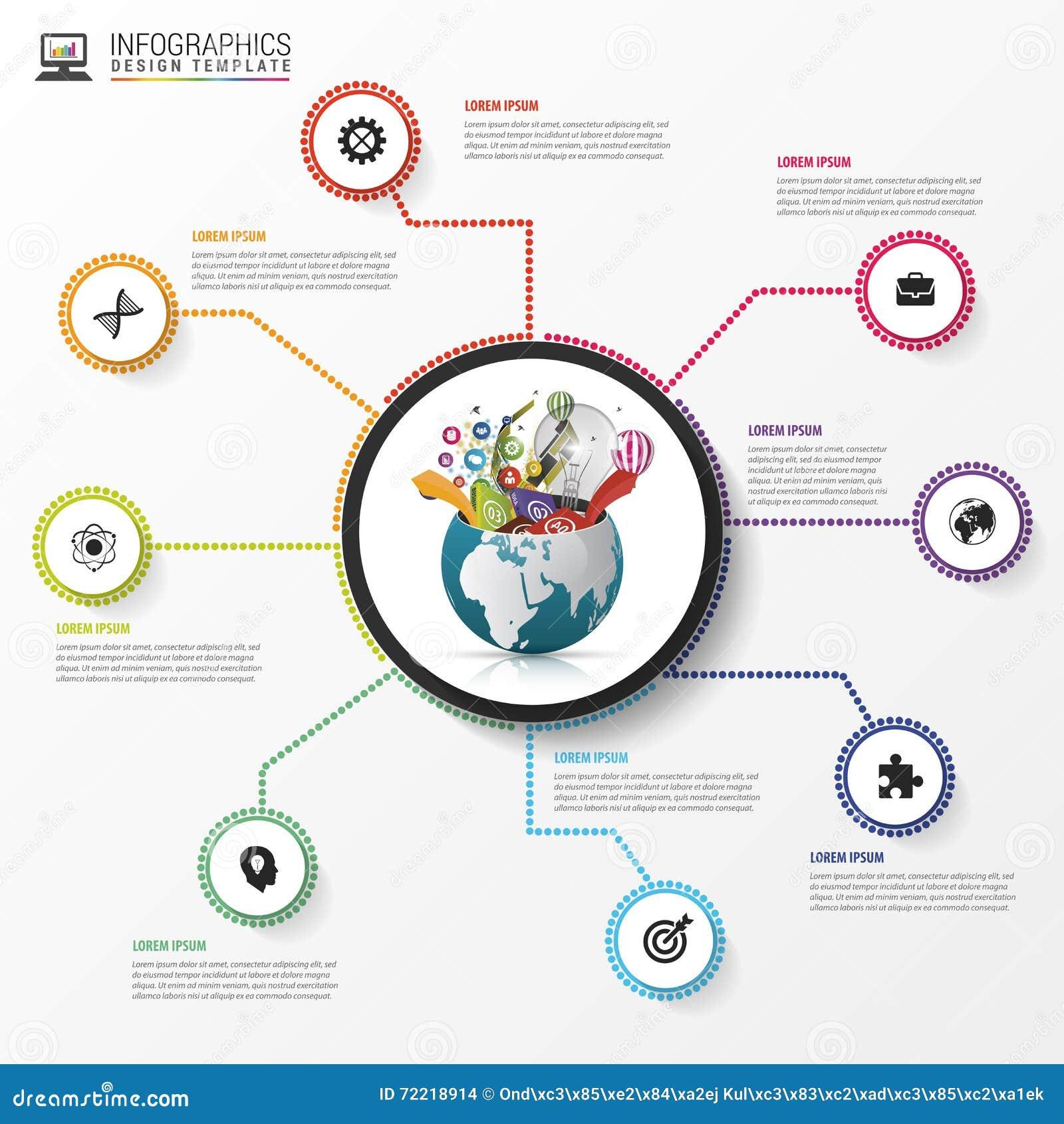 Molde do projeto de Infographic Mundo creativo Vetor