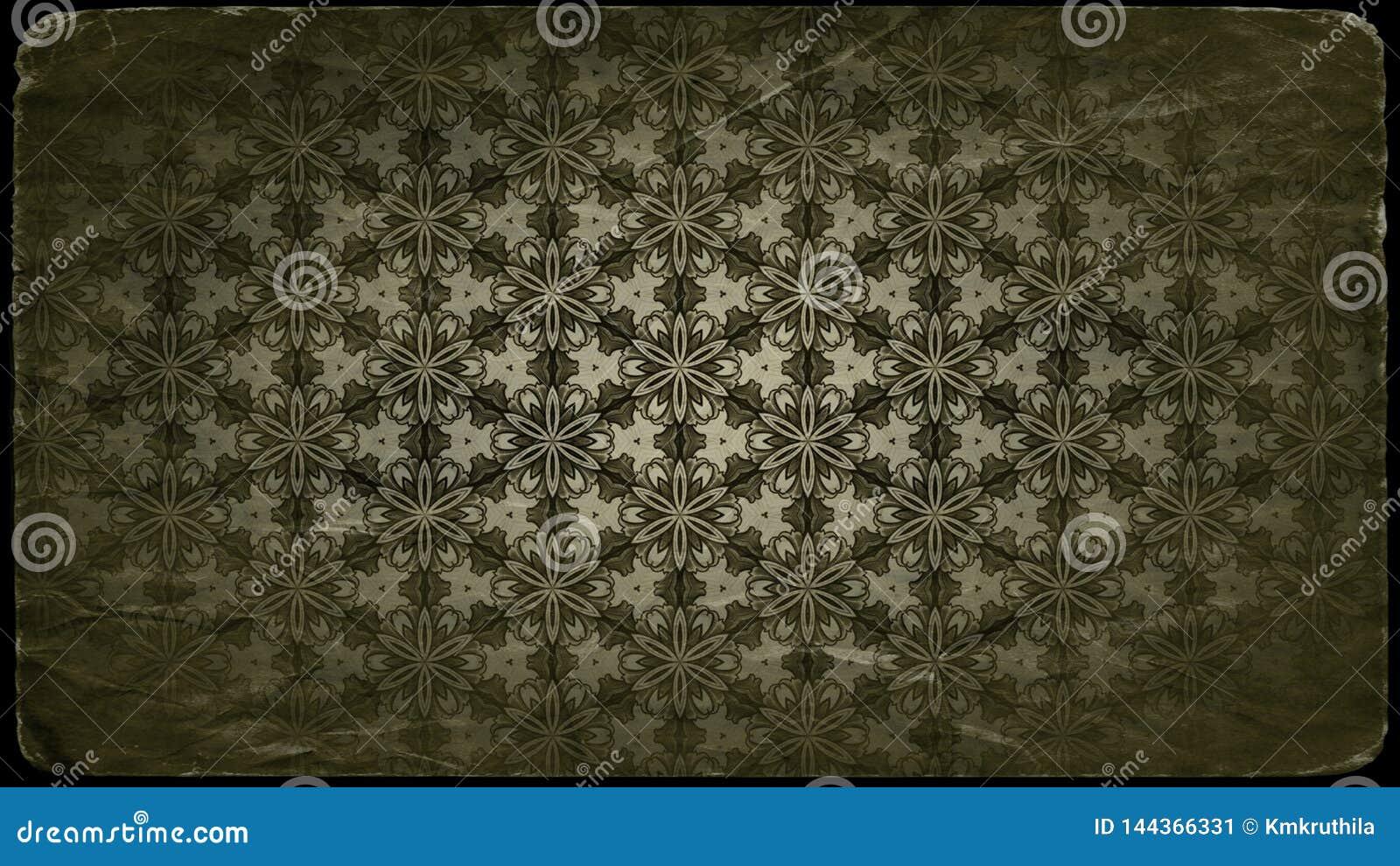 Molde do projeto do fundo do teste padrão do ornamento floral do vintage