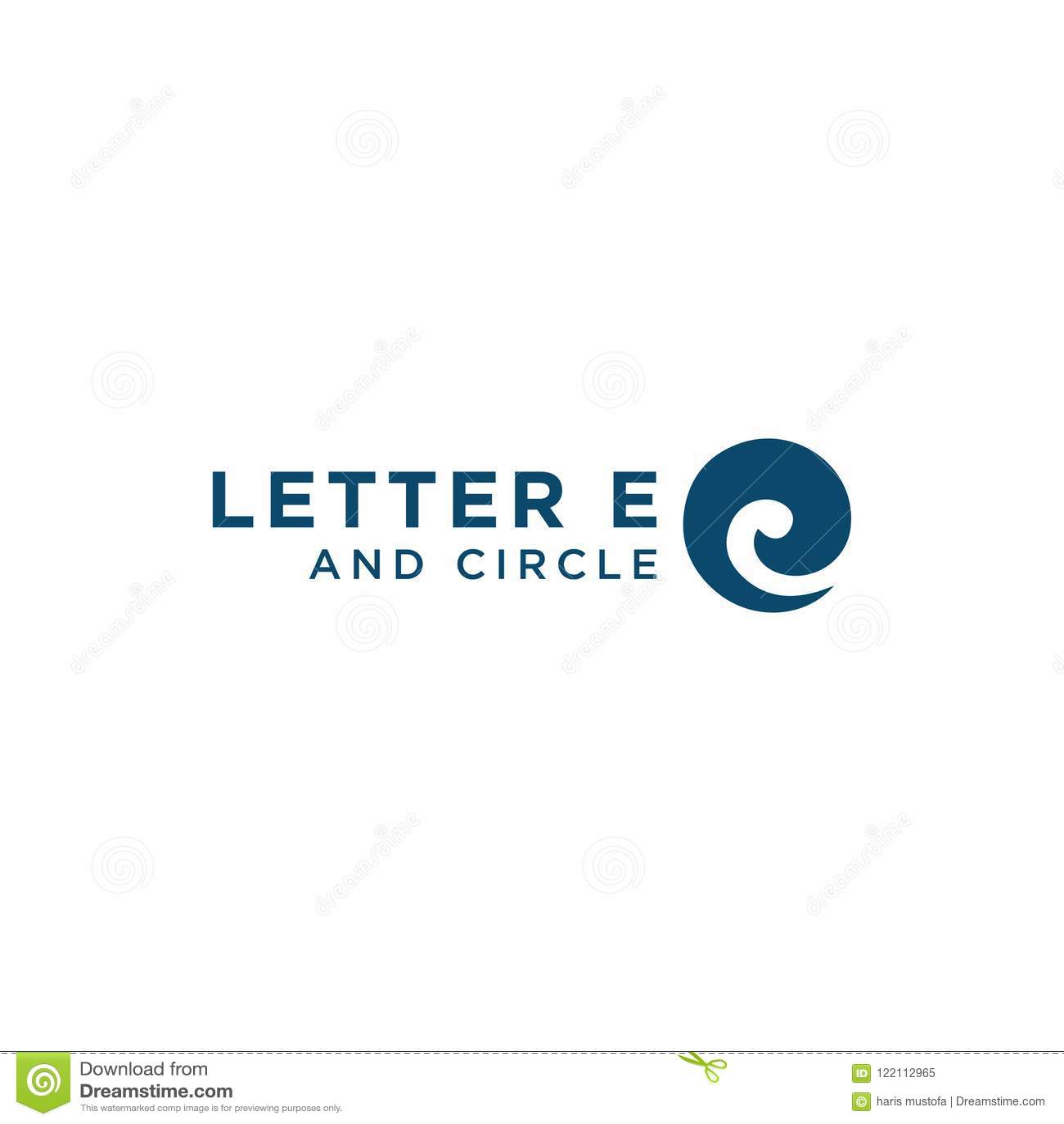 Molde do projeto do logotipo da letra inicial E