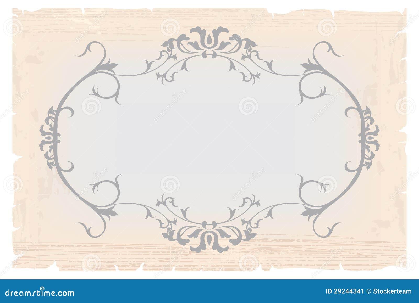 Download Molde Do Quadro Do Vintage Para O Cartão Ilustração Stock - Ilustração de elegante, floral: 29244341