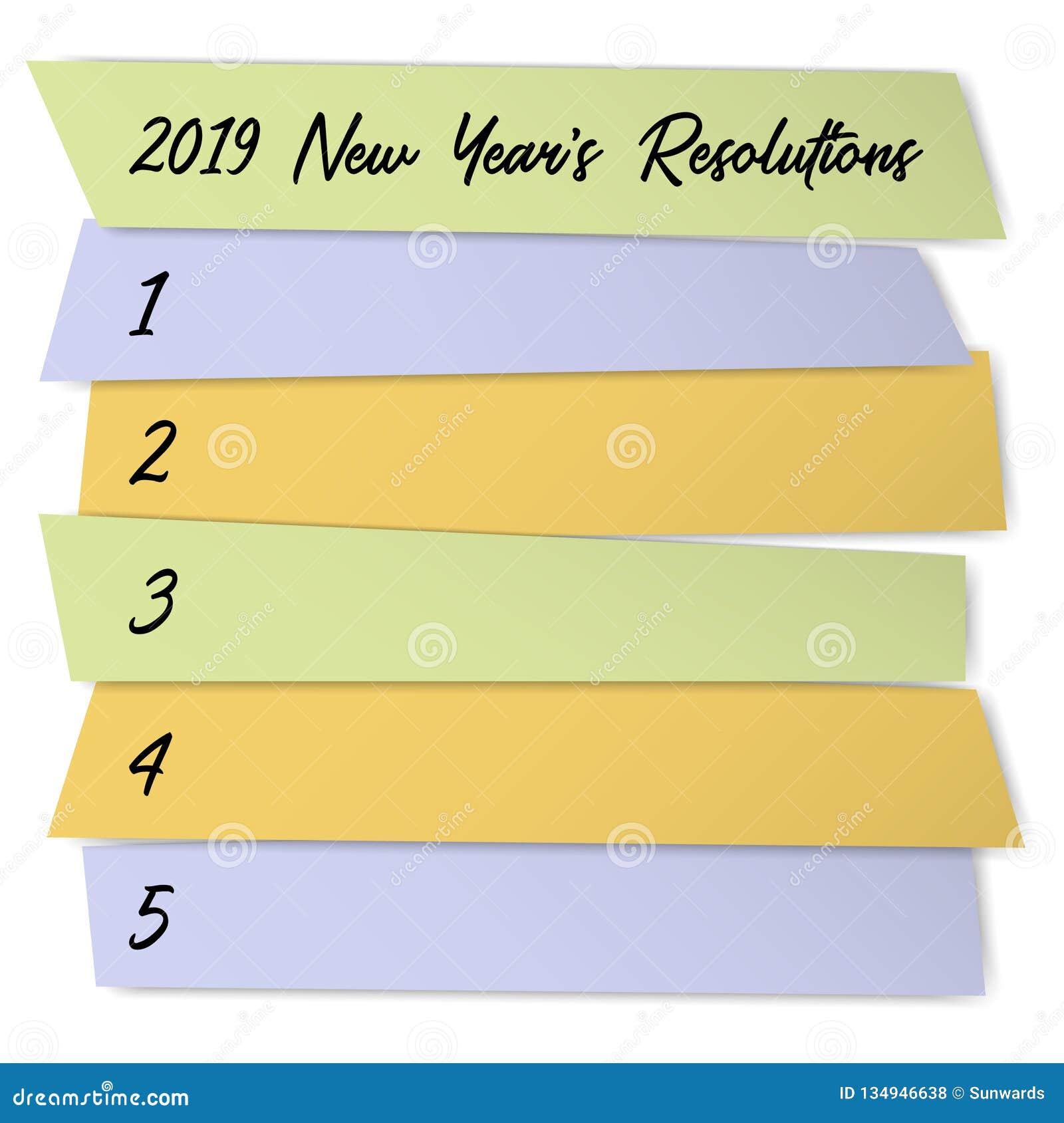 Molde do vetor do desafio das definições do ano novo