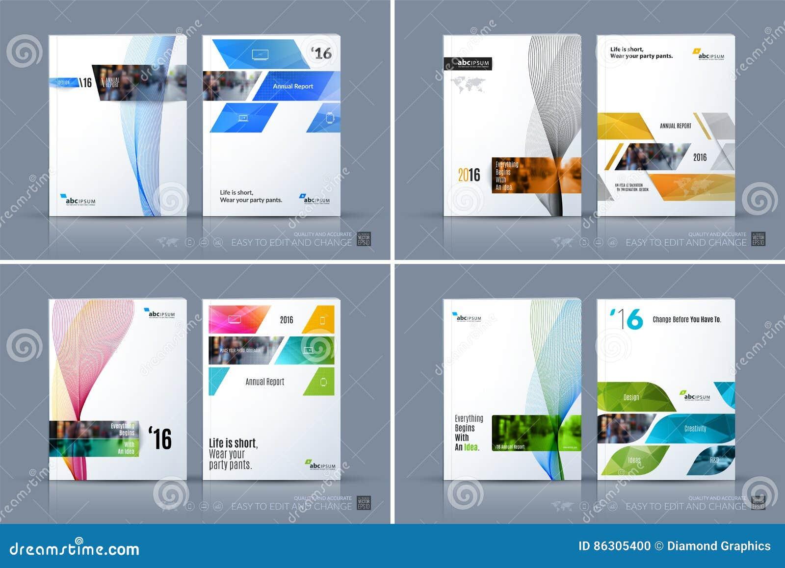 Molde do vetor do negócio A disposição do folheto, cobre o projeto moderno a