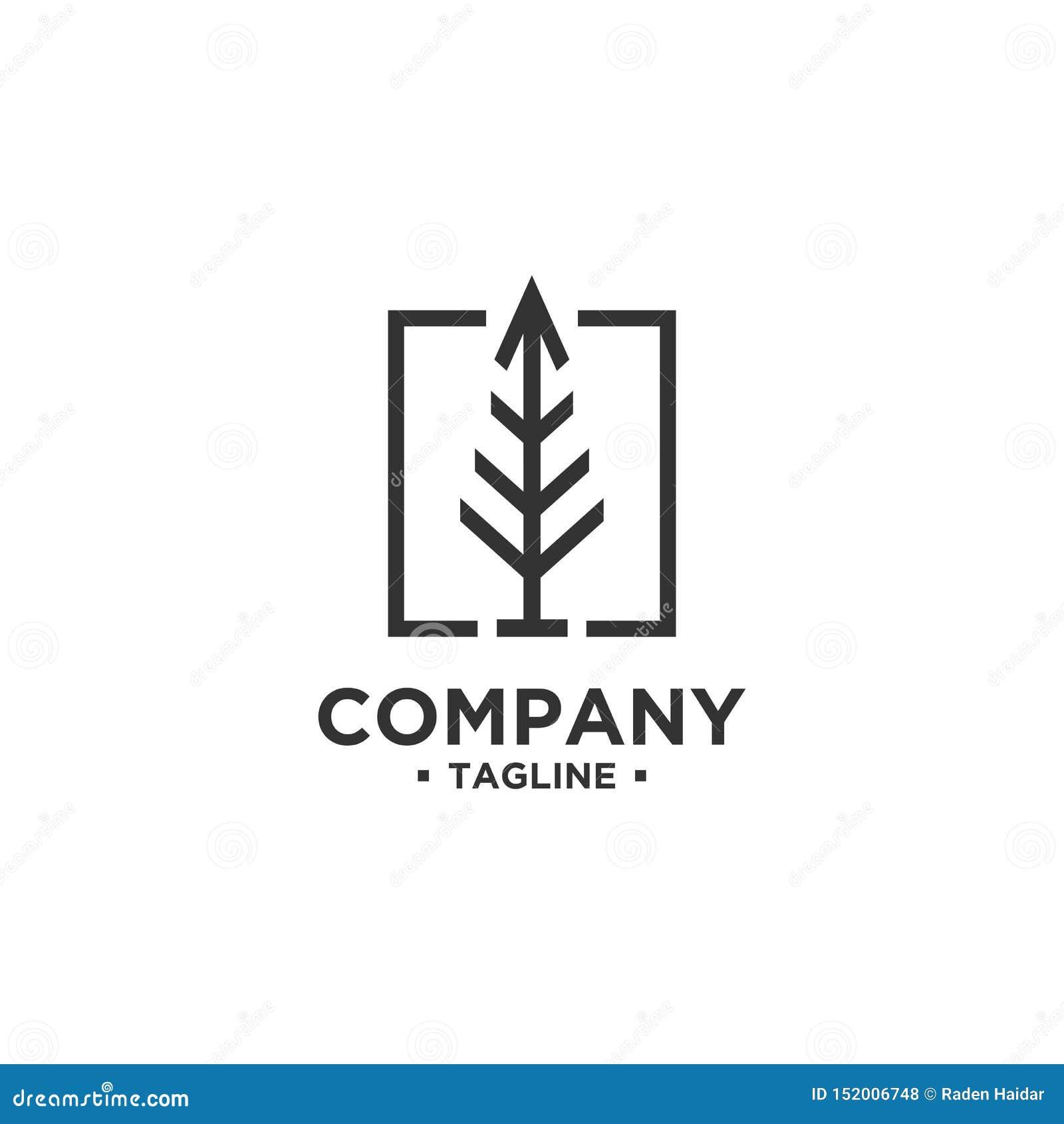 Molde do vetor do projeto do logotipo da árvore
