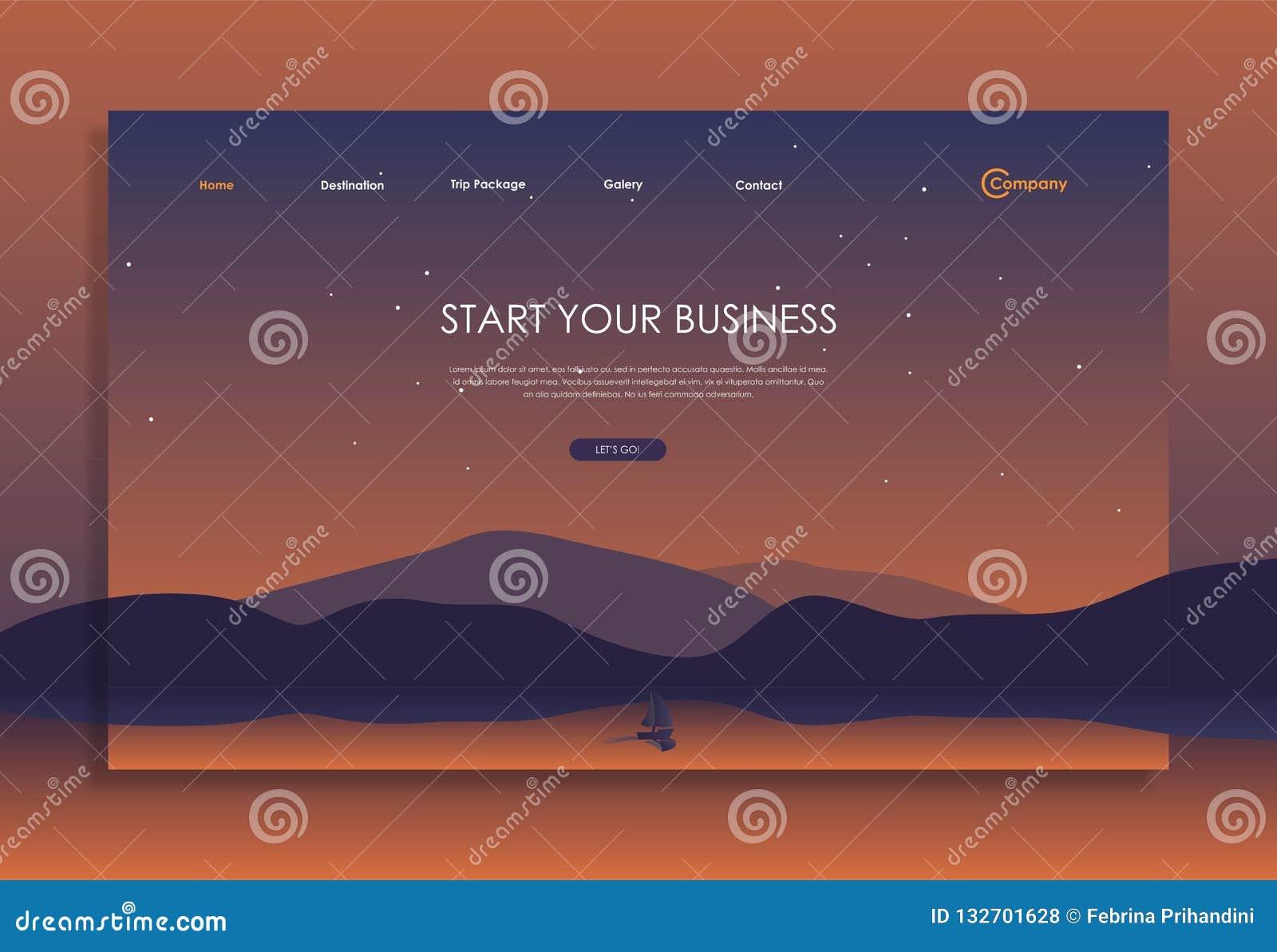 Molde do Web site com cor bonita