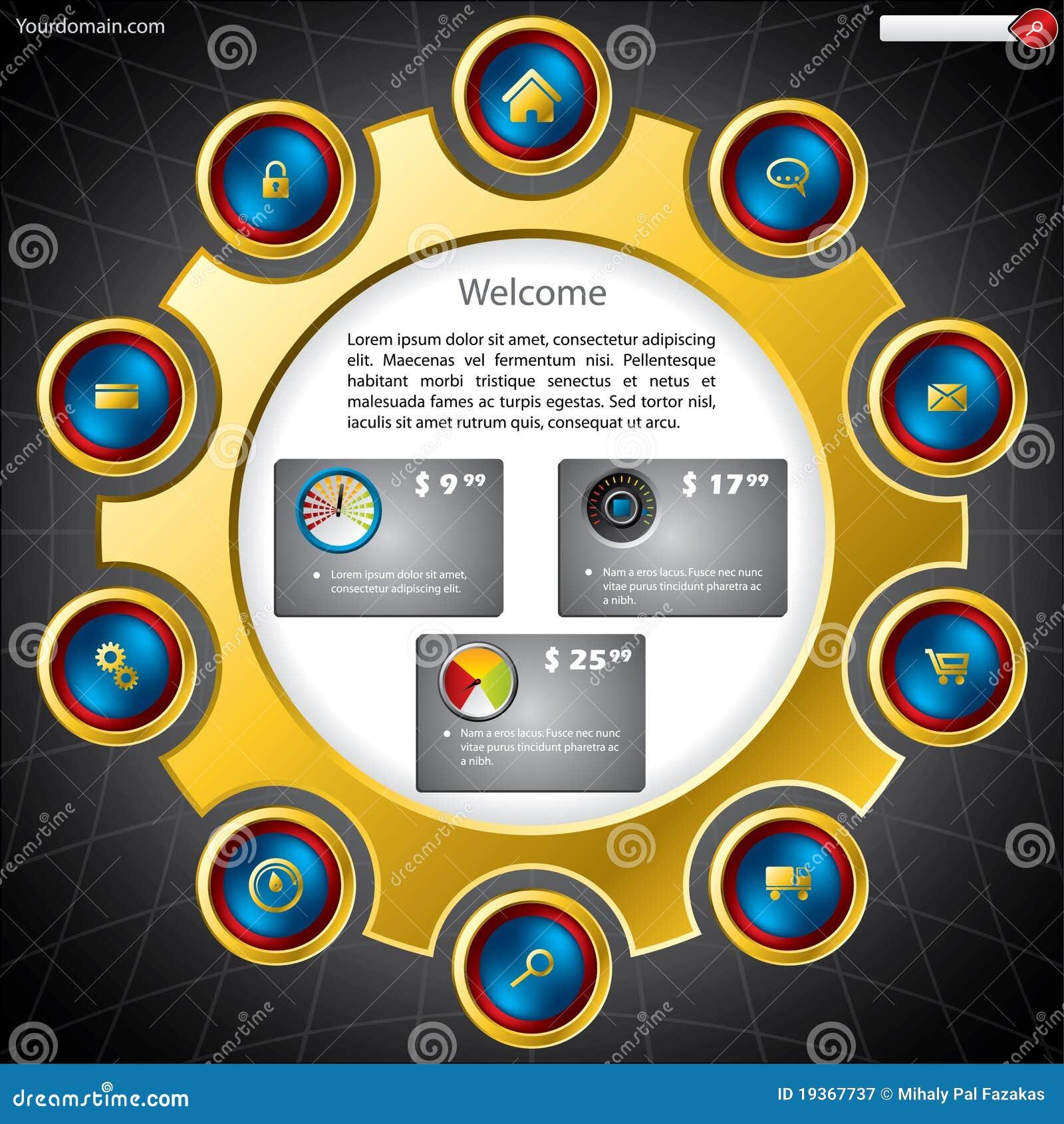 Molde do Web site da compra
