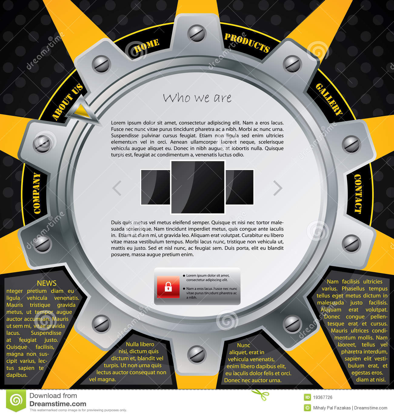 Molde do Web site da roda denteada