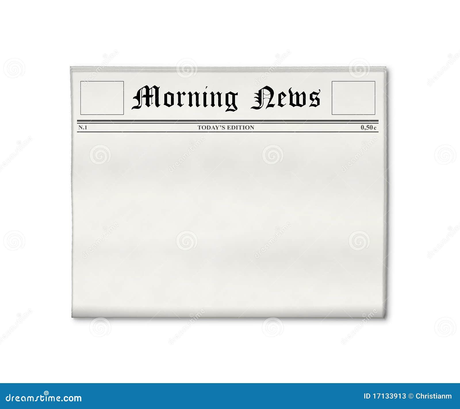 Molde em branco do jornal
