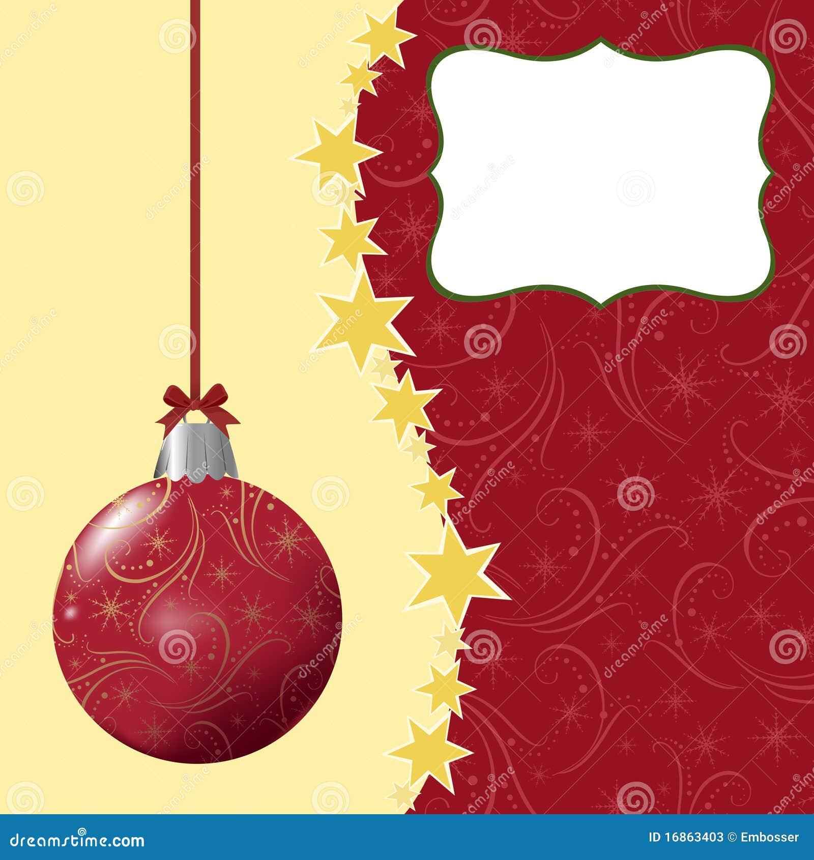 Molde em branco para o cartão de cumprimentos do Natal