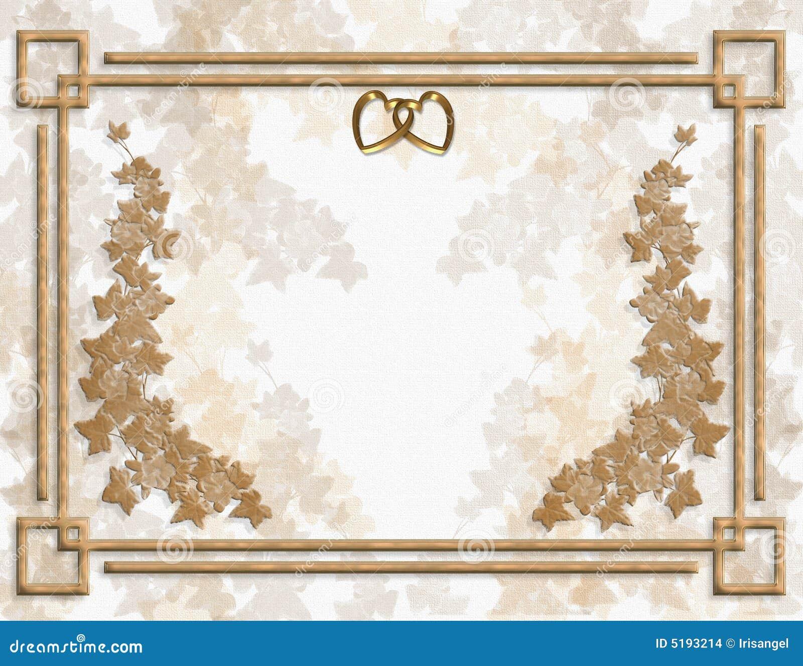 molde floral do convite do casamento ou do partido ilustração stock