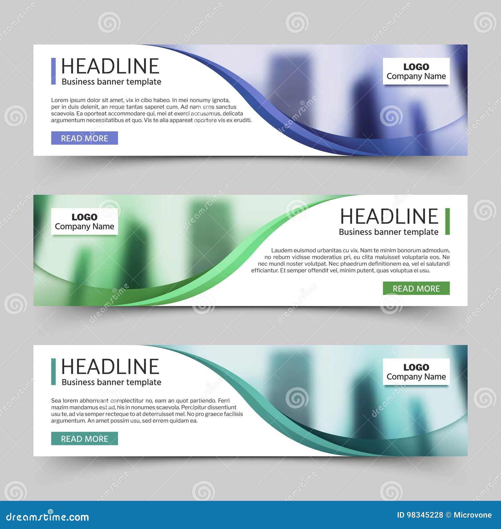 Molde horizontal do vetor das bandeiras do negócio do Web site