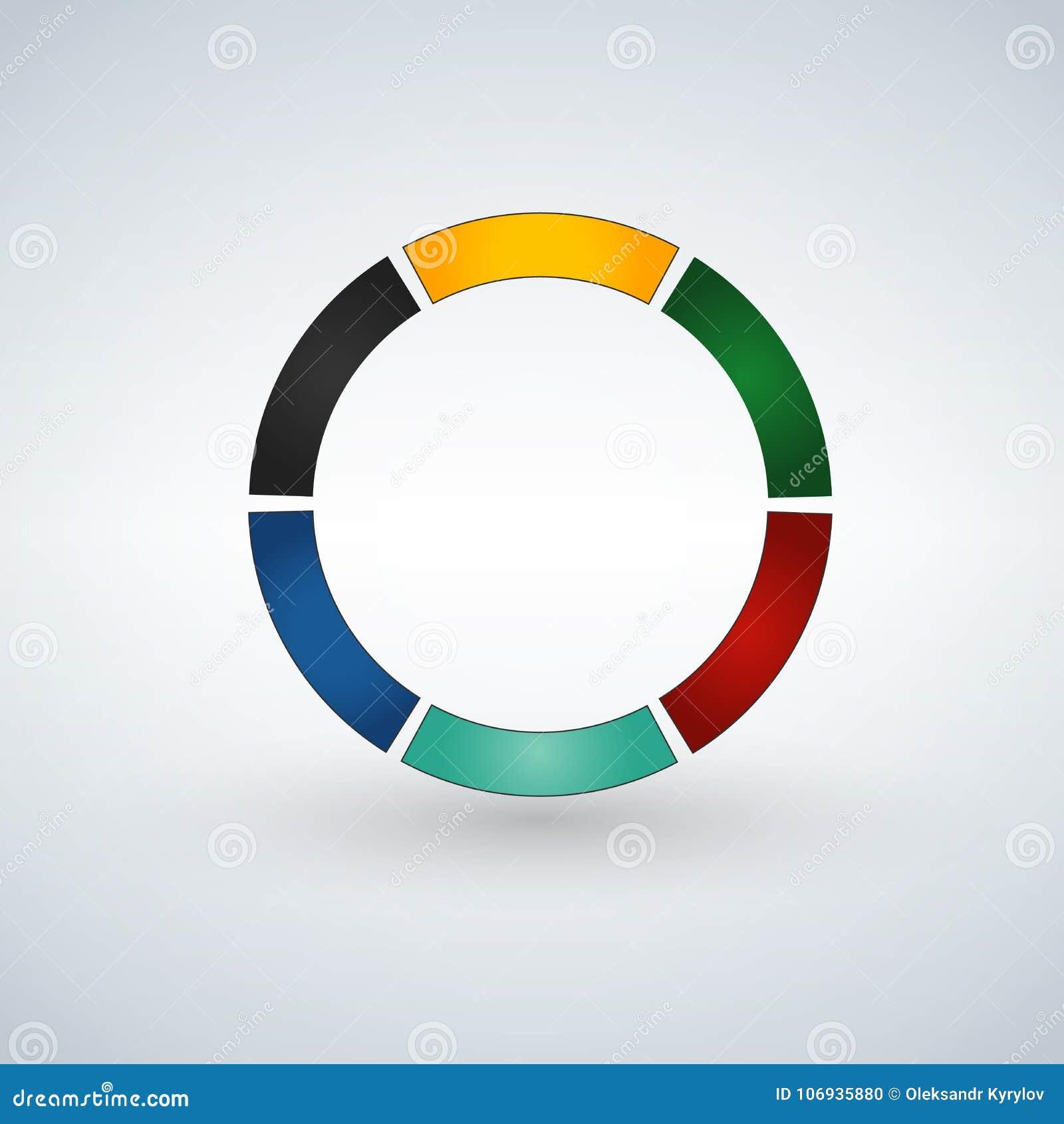 Molde infographic abstrato com 6 etapas para o sucesso Molde do círculo de negócio com opções para o folheto, diagrama, trabalhos