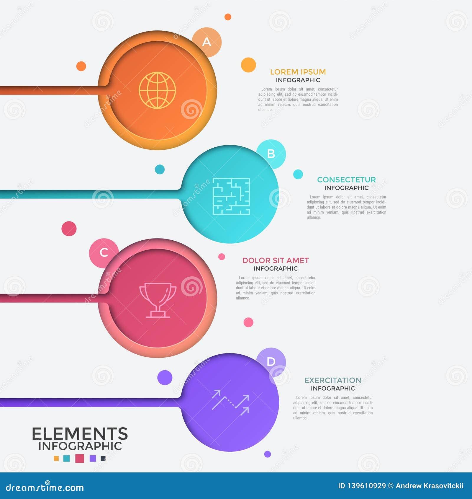 Molde infographic criativo do projeto