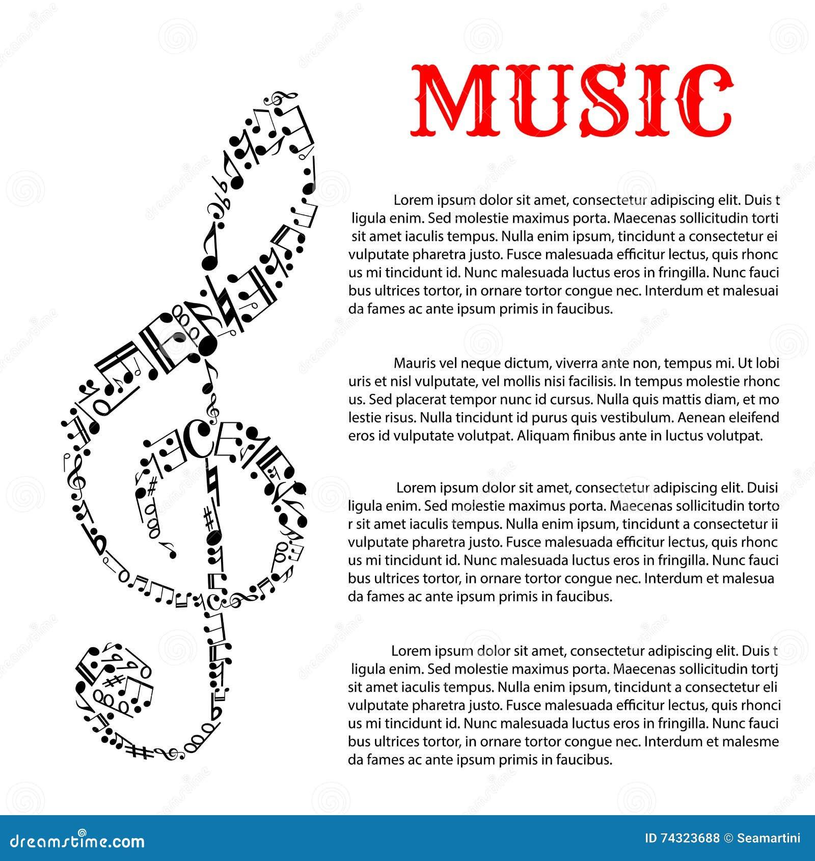 Molde Infographic Da Música Com Clave De Sol Ilustração do Vetor -  Ilustração de clave, infographic: 74323688