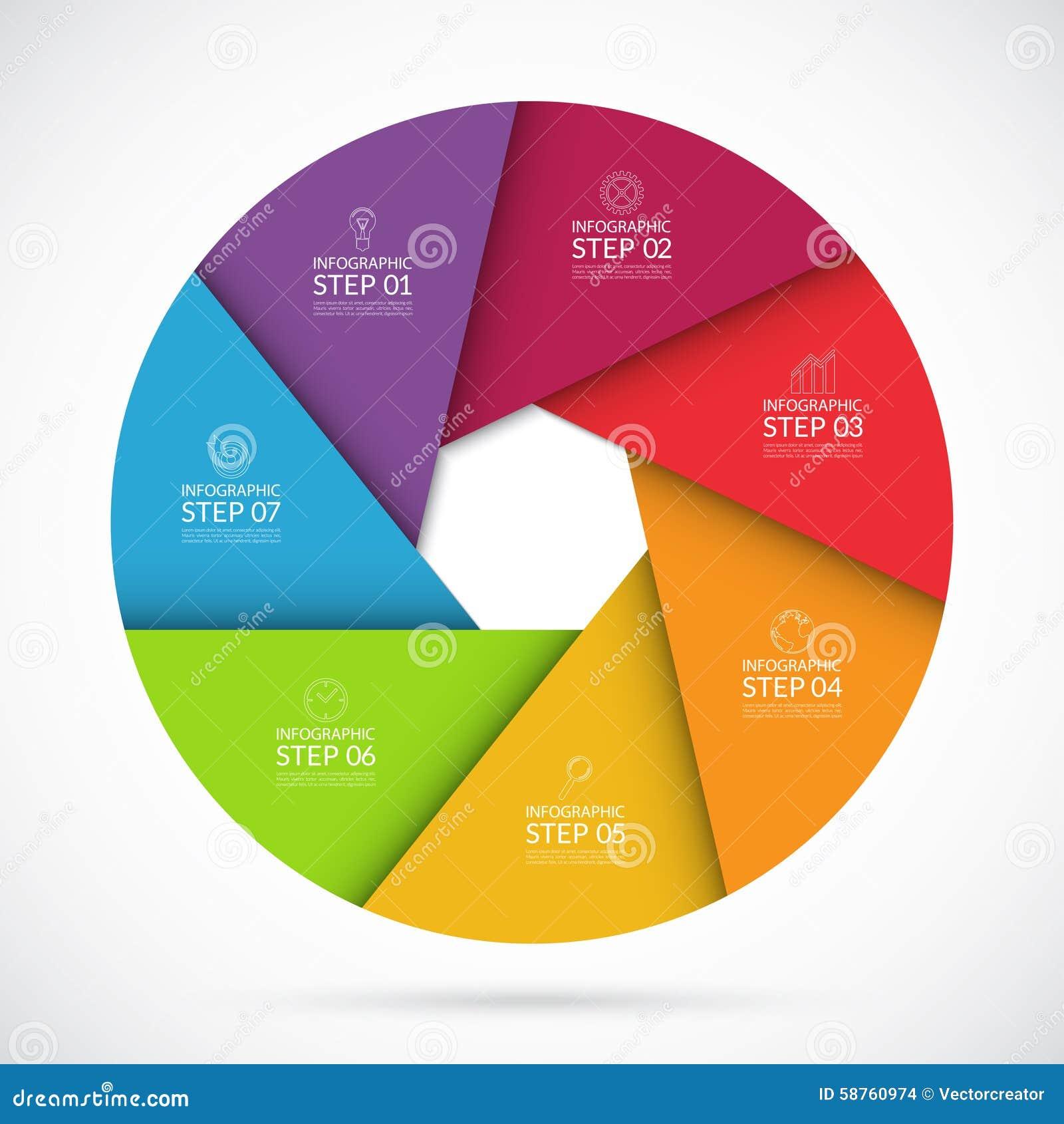 Molde infographic do crculo de 7 etapas no estilo material download molde infographic do crculo de 7 etapas no estilo material ilustrao do vetor ilustrao ccuart Image collections