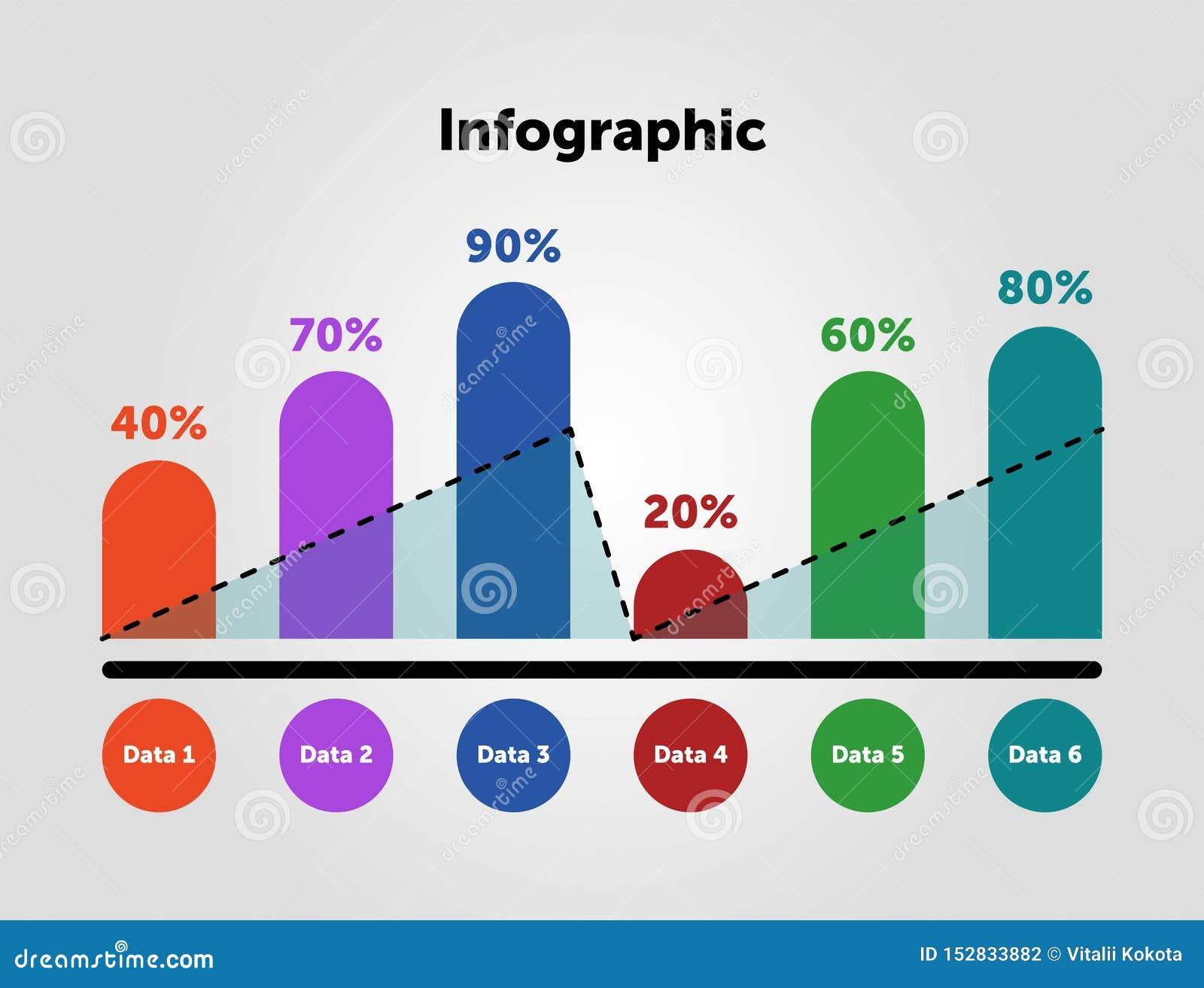 Molde infographic do neg?cio Projeto com números 6 opções ou etapas