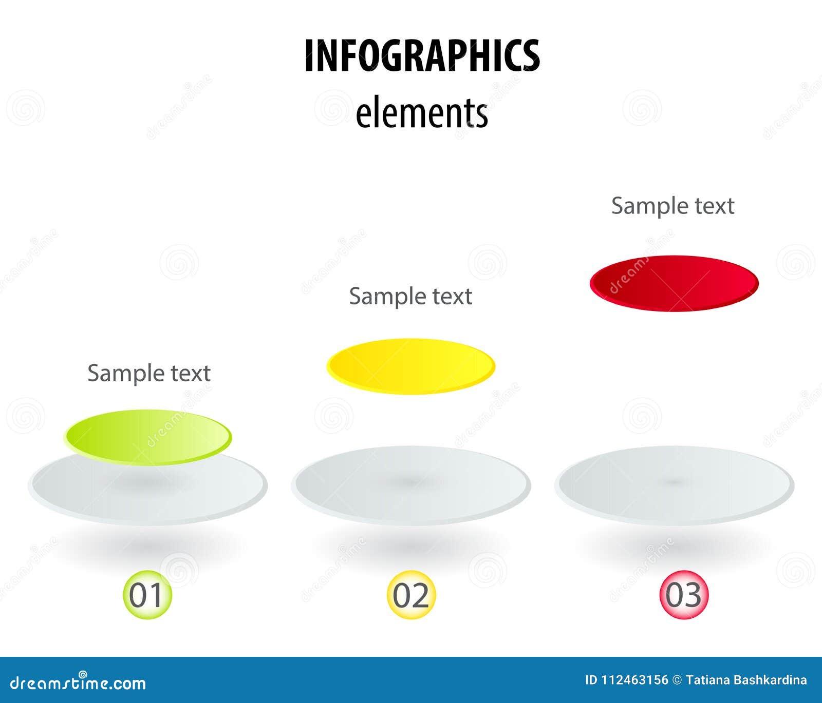 Molde infographic do vetor com etiqueta do papel 3D, circl integrado