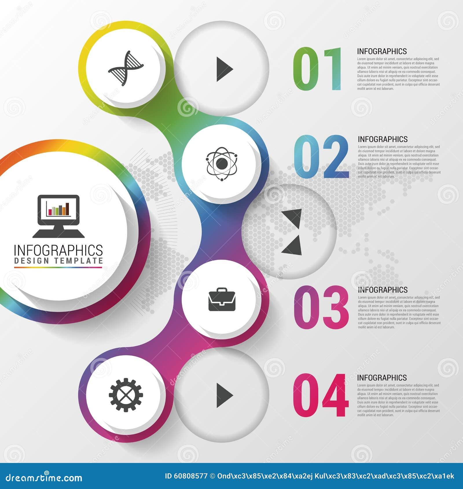 Molde infographic moderno do projeto Ilustração do vetor Pode ser usado para o diagrama, bandeira, opções do número, disposição d