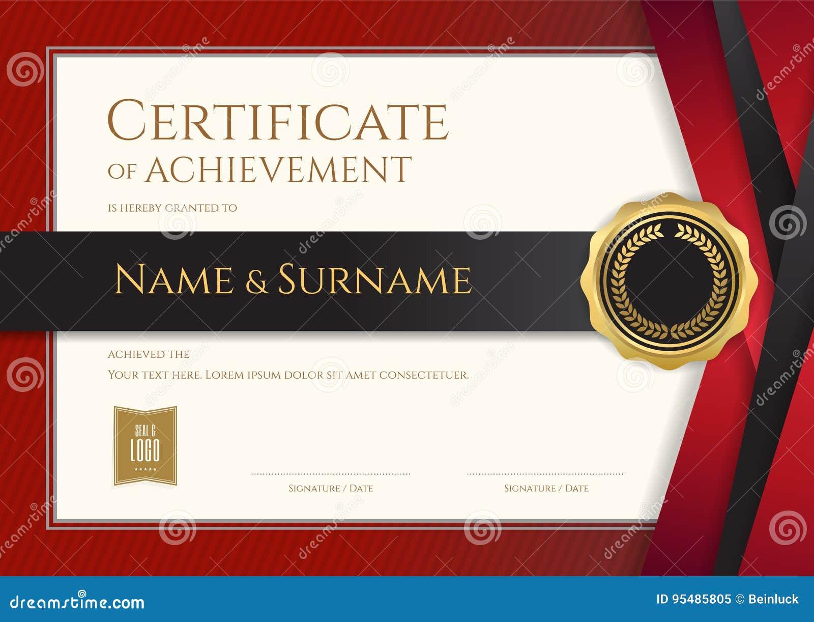 Molde luxuoso do certificado com quadro elegante da beira, diploma d