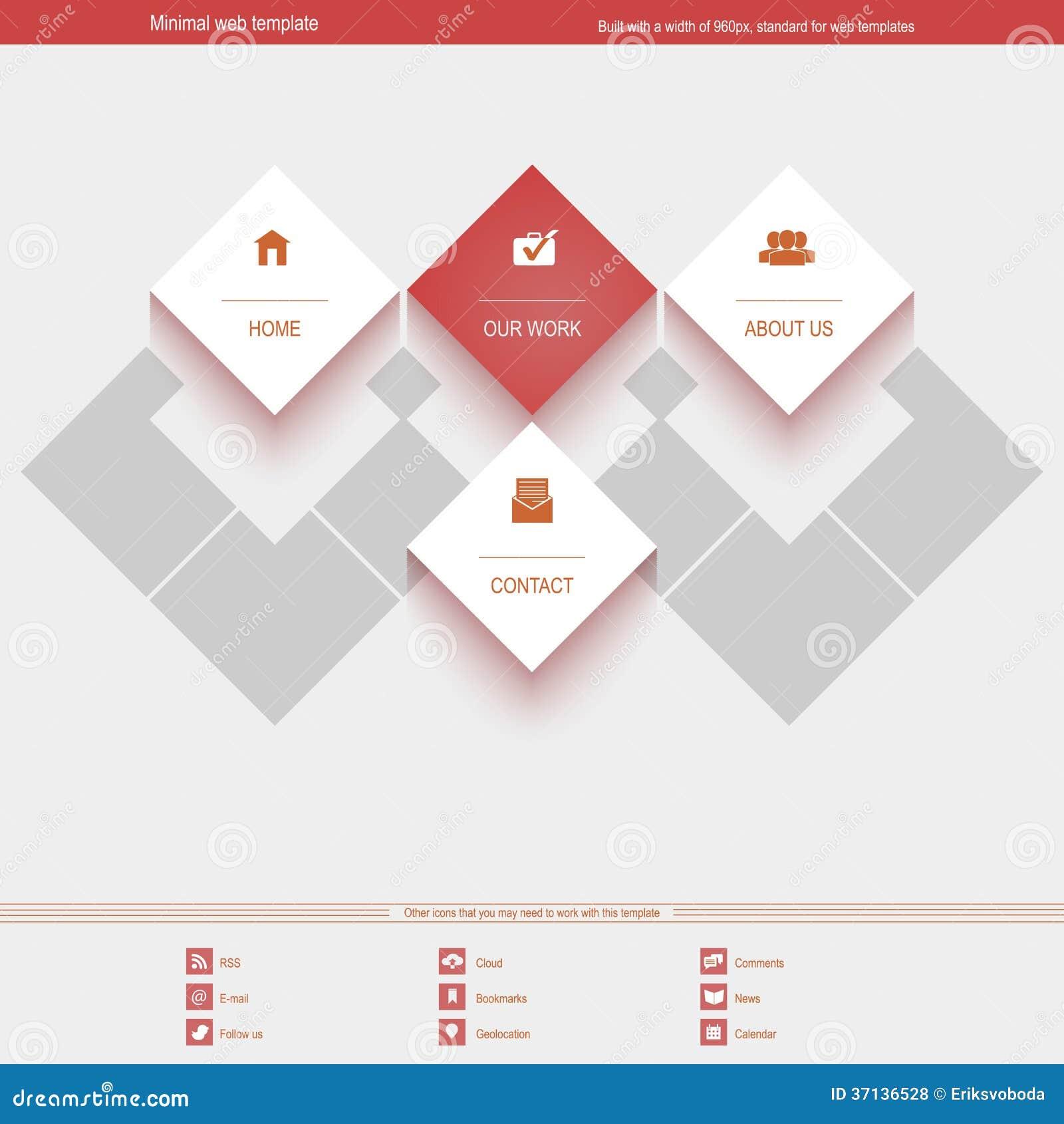 Molde mínimo da Web para incorporado ou o portfólio