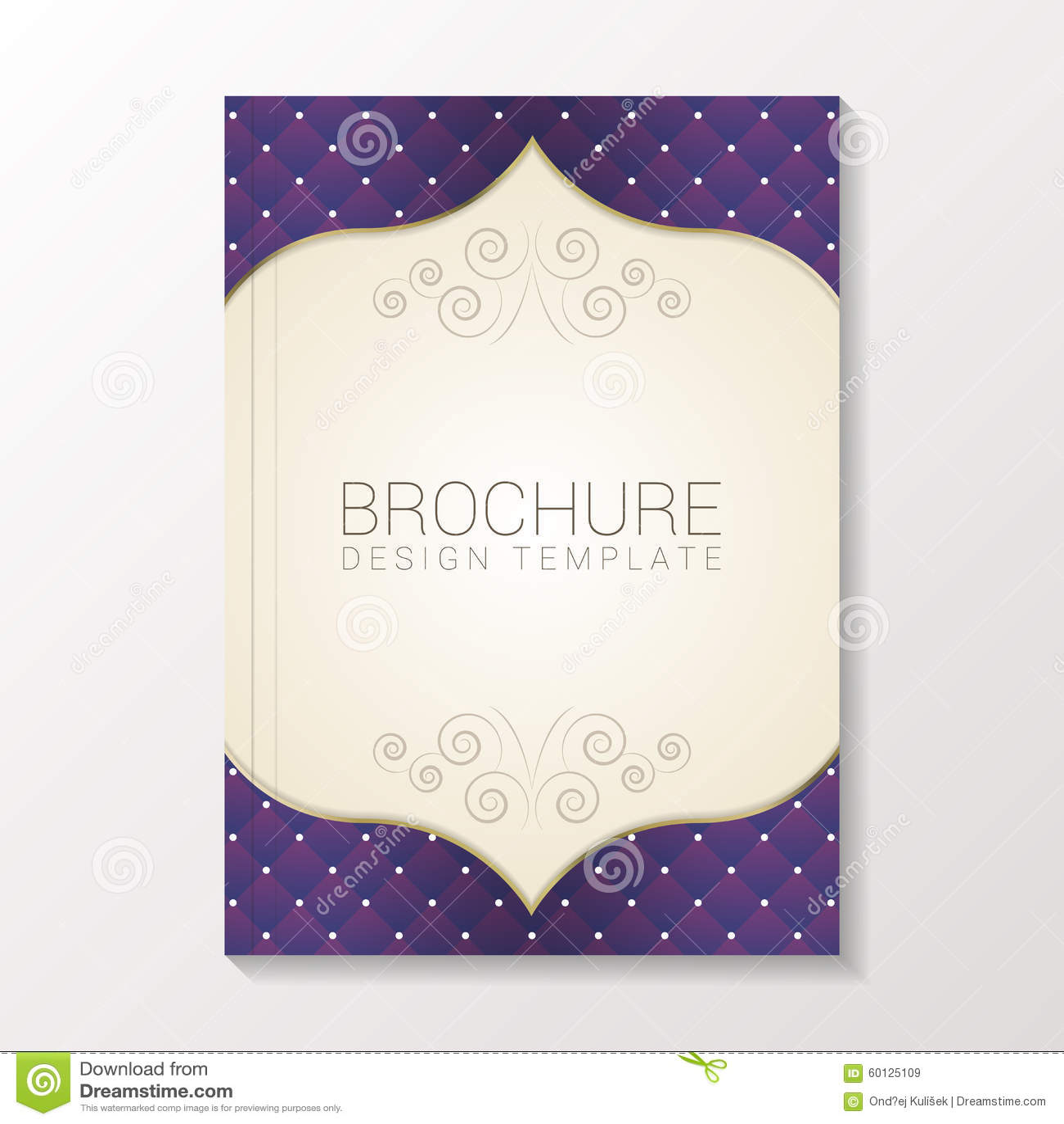 Molde moderno do molde do folheto/projeto do livro/inseto Ilustração do vetor