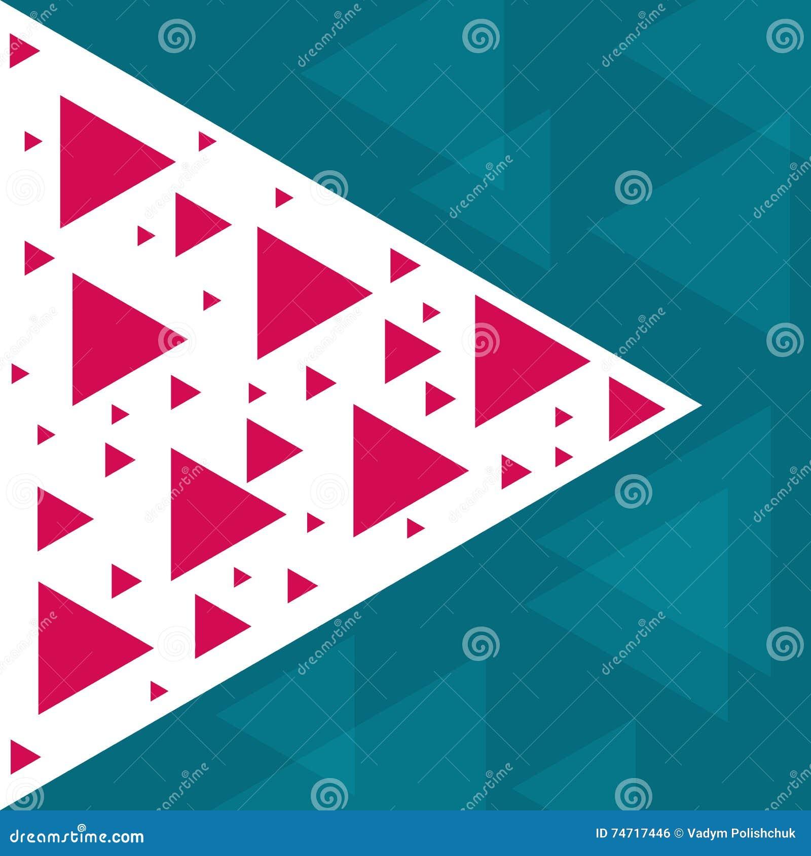 Molde na moda abstrato com formas e texturas geométricas diferentes