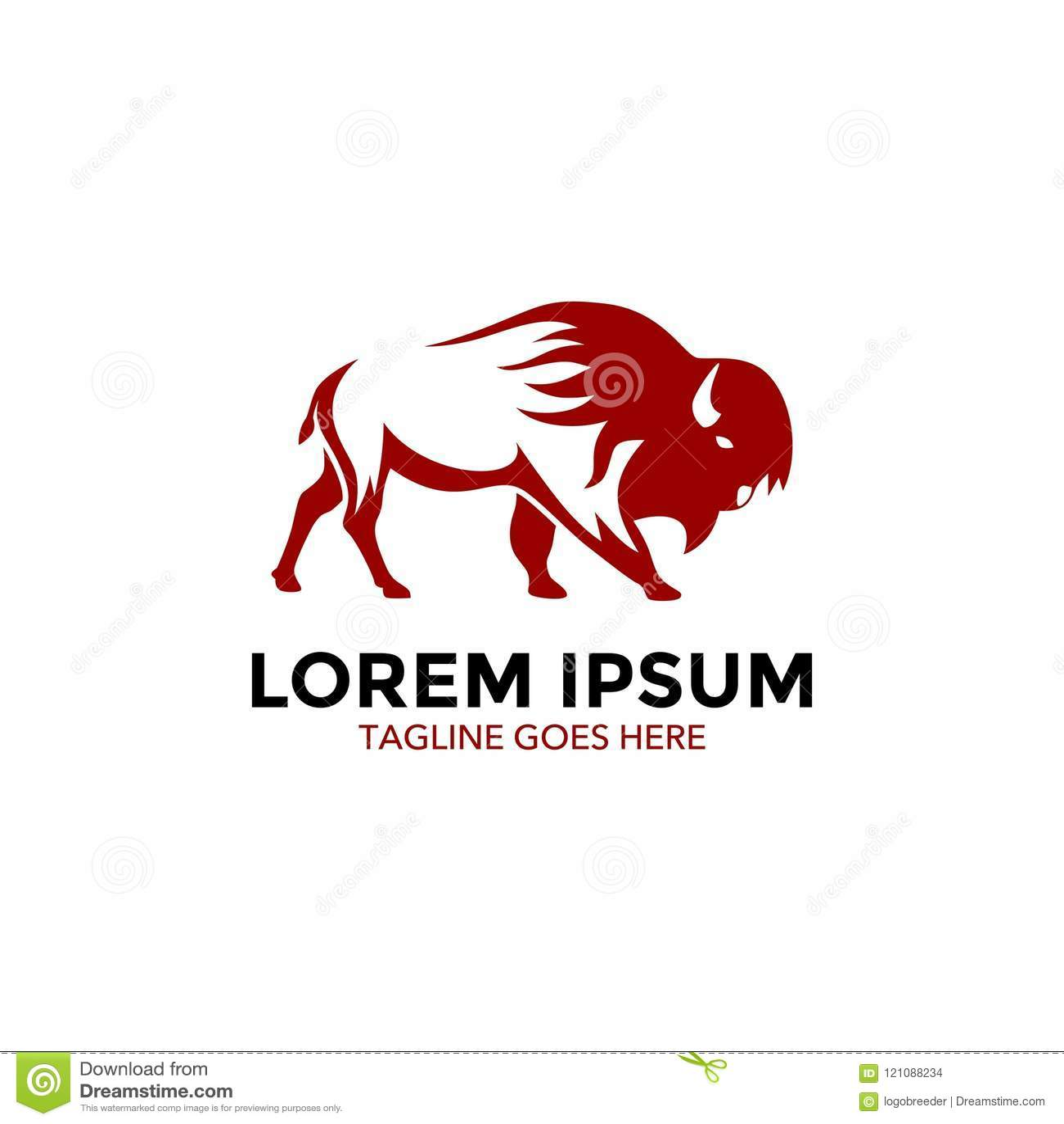 Molde original do logotipo do bisonte Vetor editable