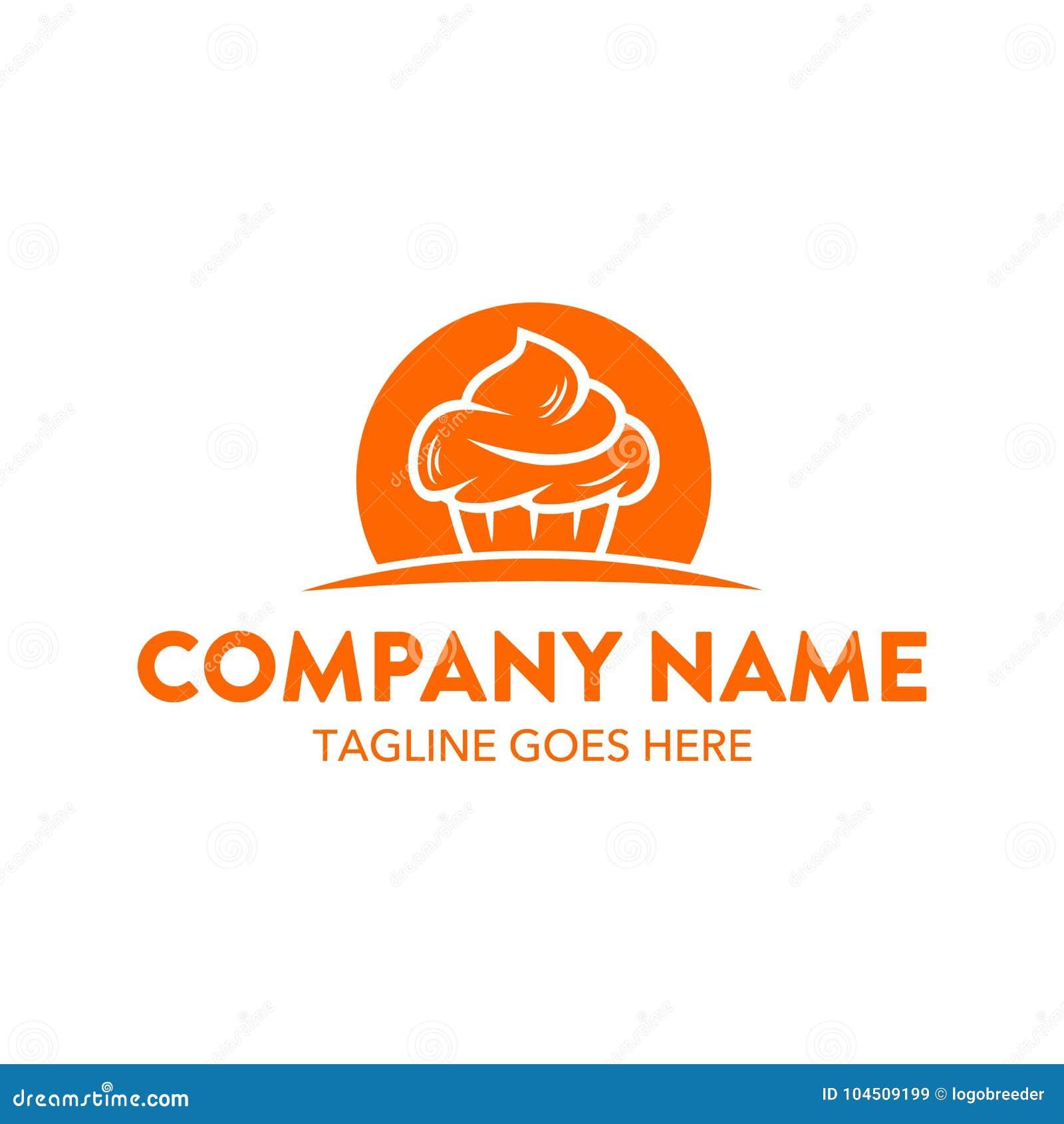 Molde original do logotipo do bolo e das cookies Vetor editable