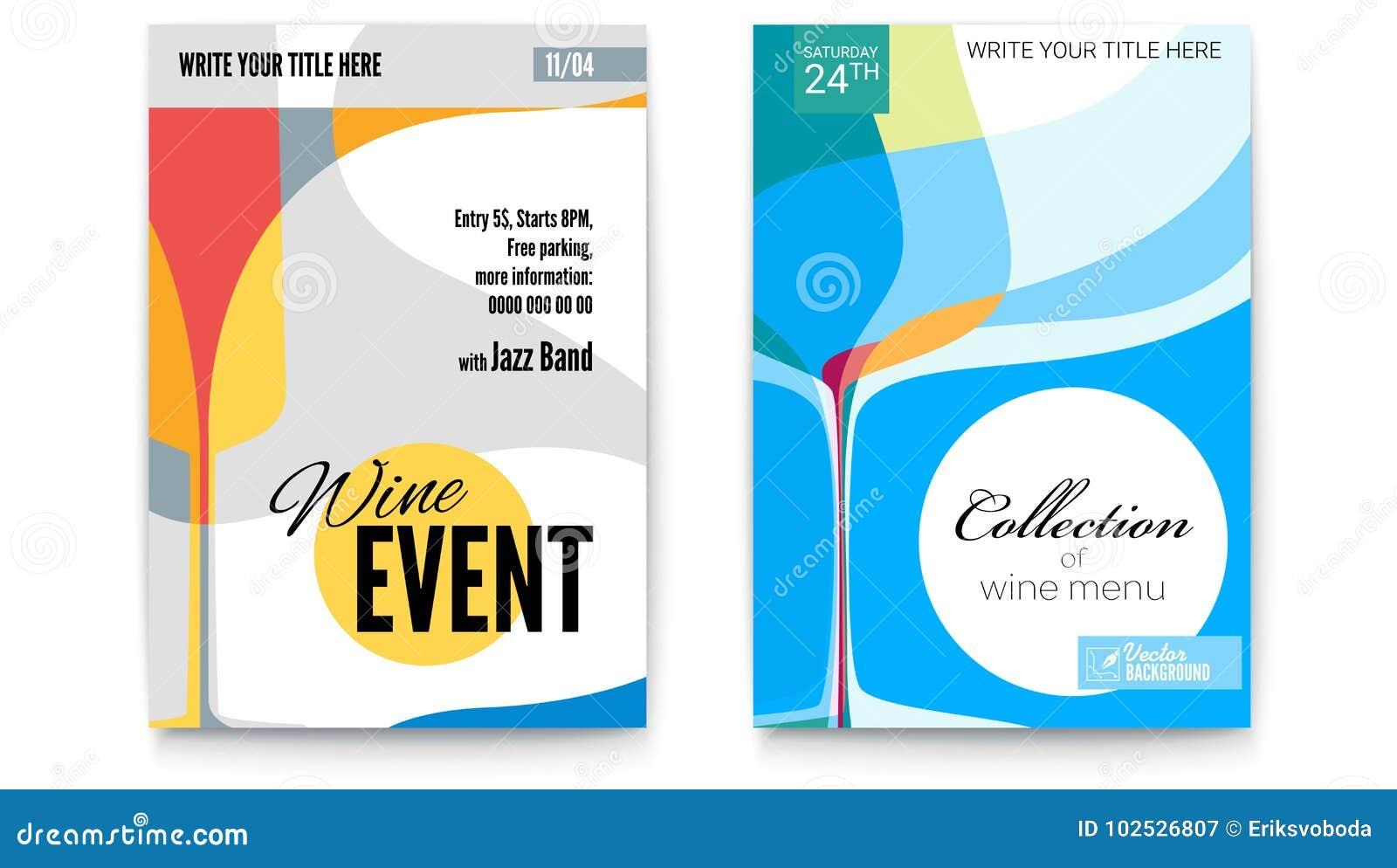 Molde para evento do festival do cocktail, de vinho ou tampas do menu, tamanho A4 Vector o molde do cartaz, disposição de projeto