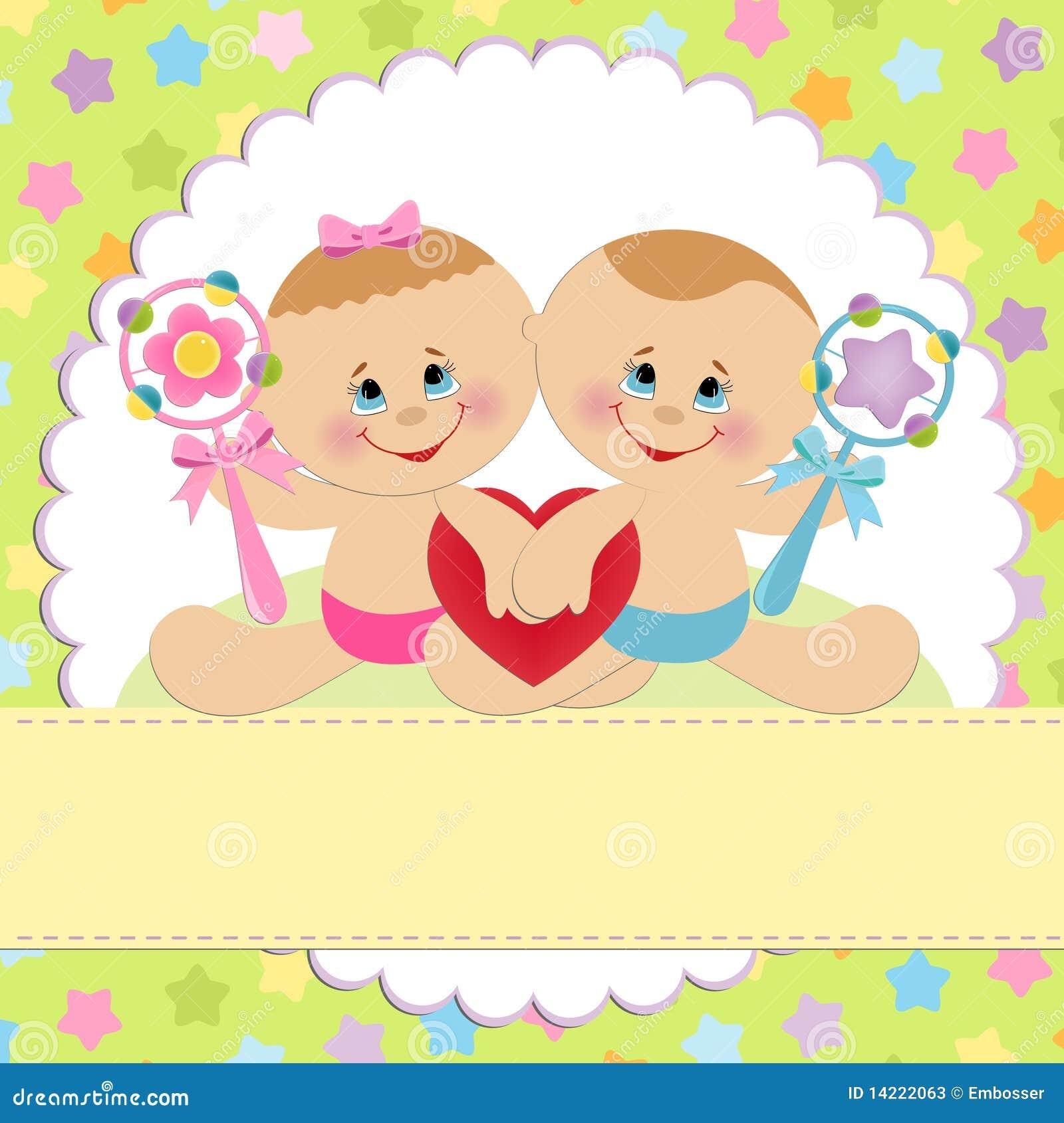 Molde para o cartão do bebê