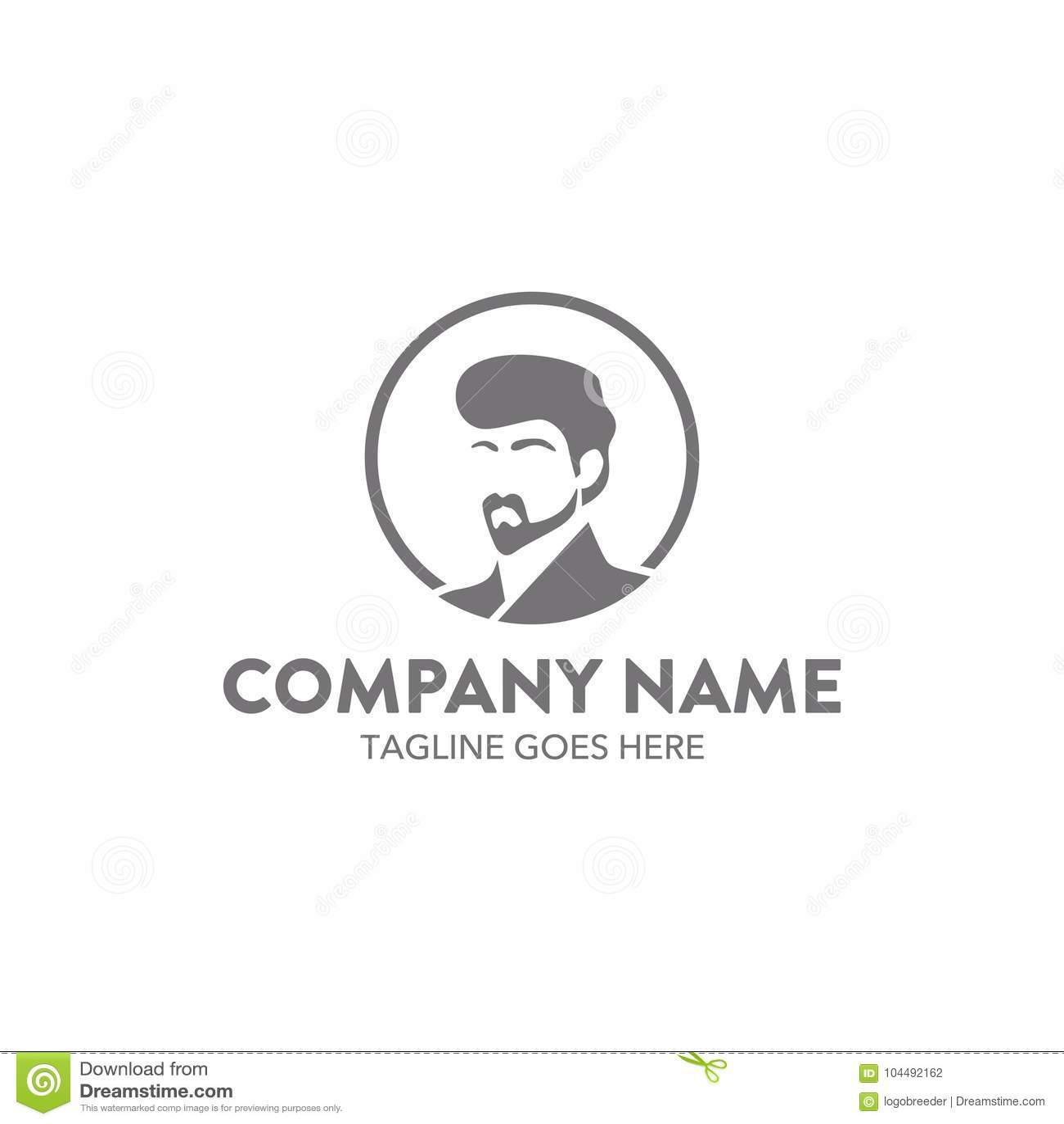 Molde relacionado do logotipo do barbeiro original Vetor editable