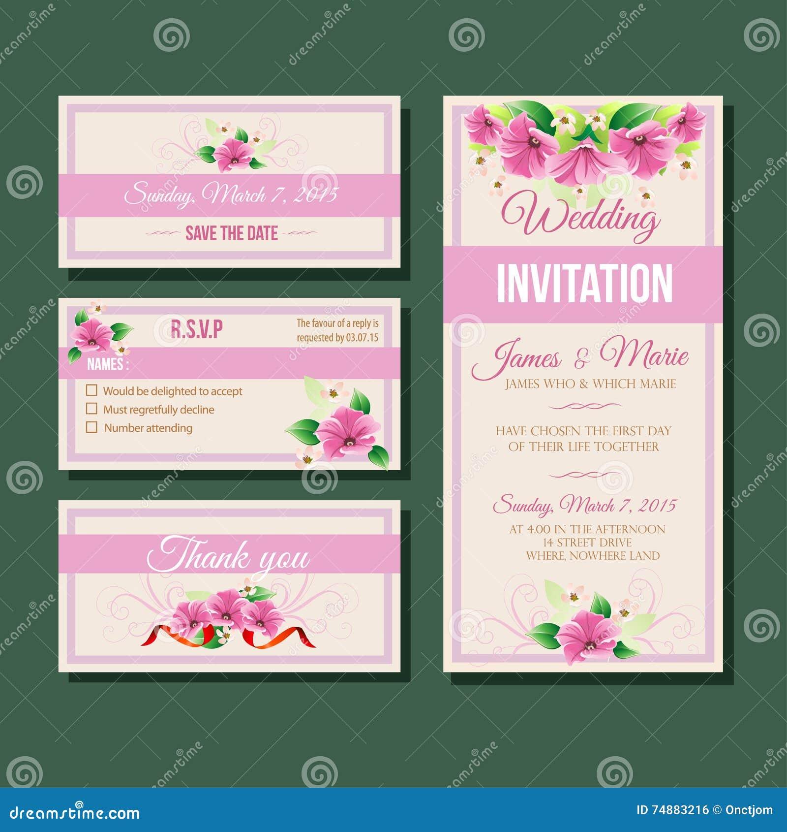 Molde roxo do convite do casamento