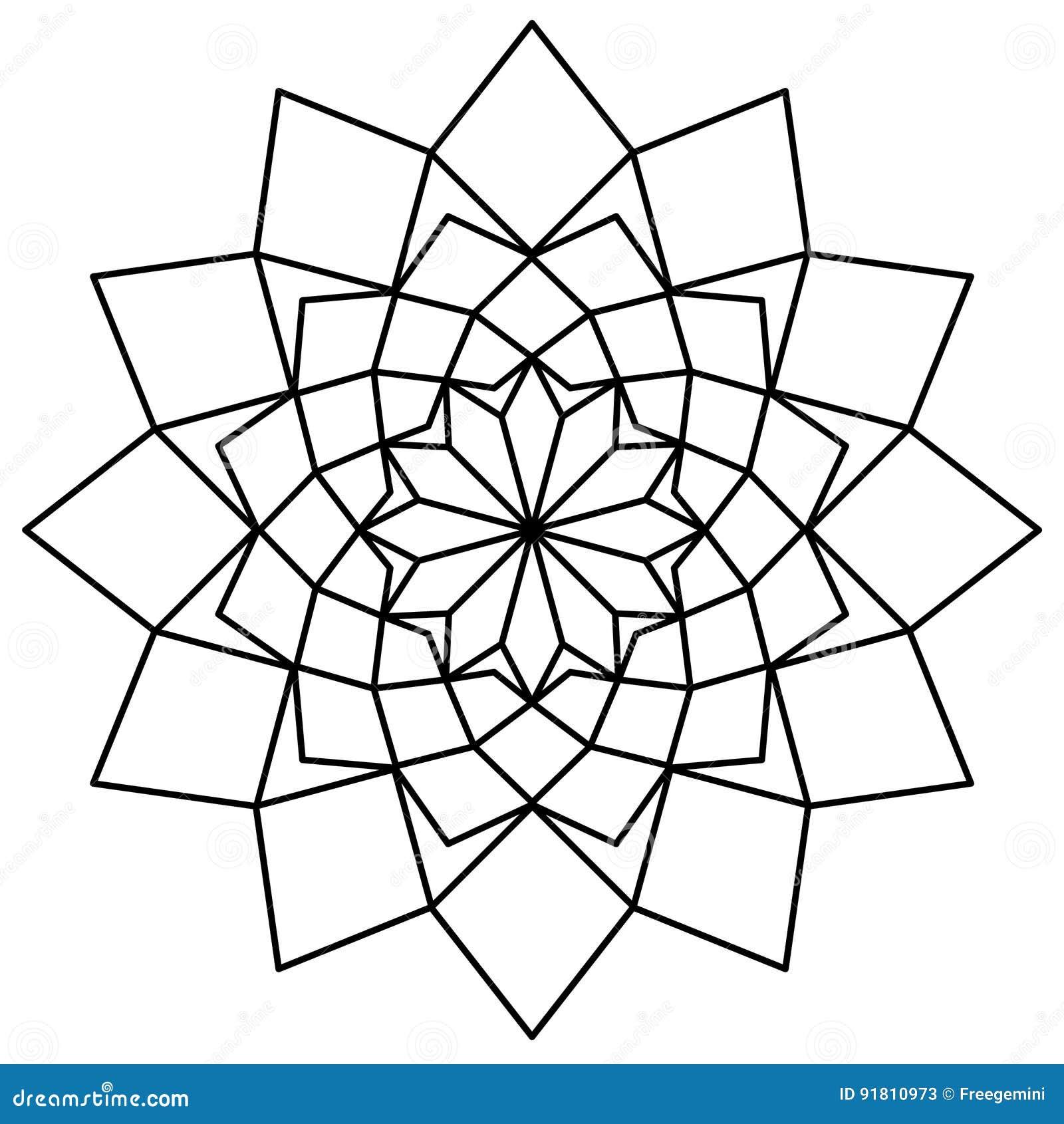 Molde Simples Da Mandala Ilustração Do Vetor Ilustração De árabe