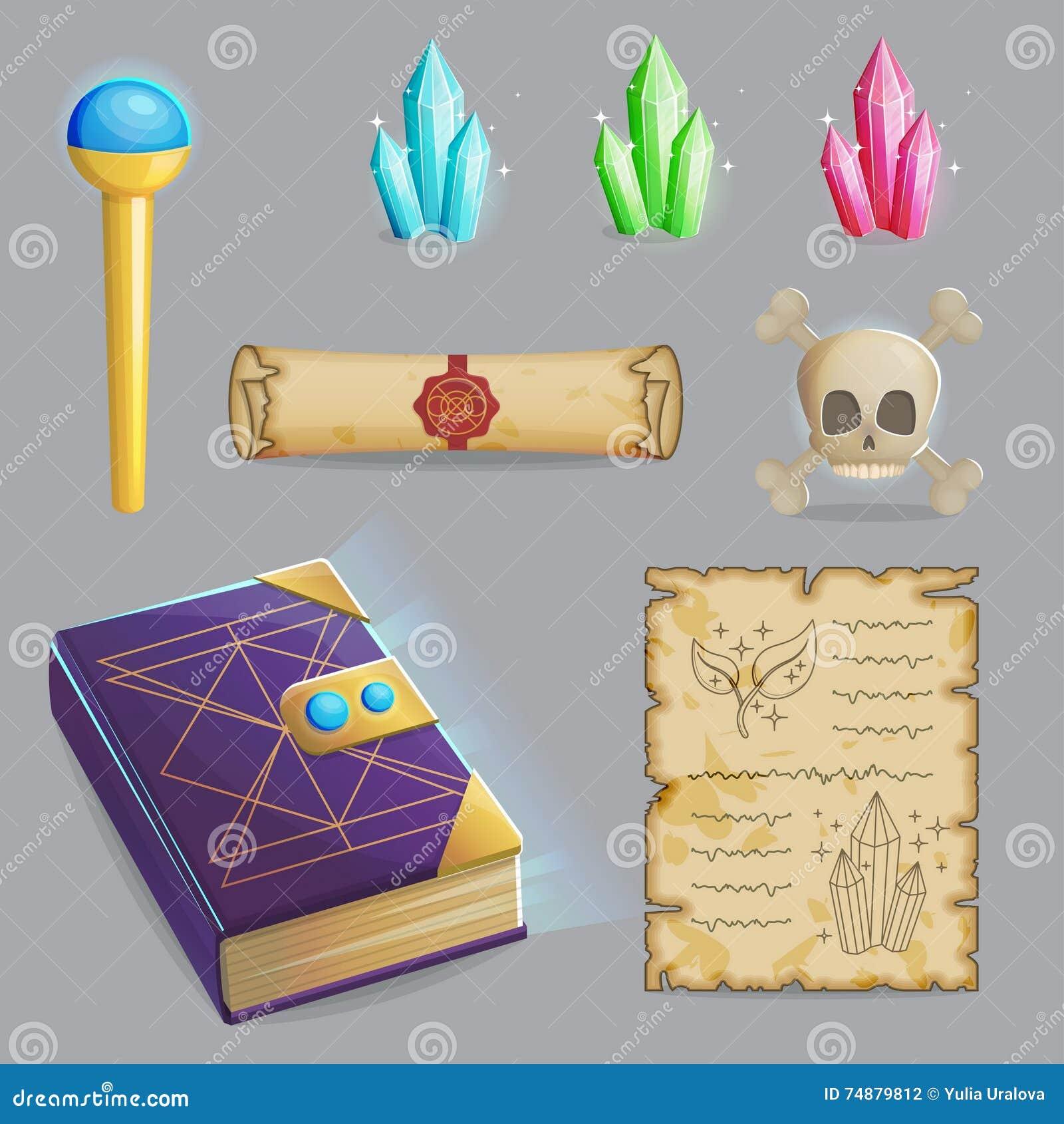 Molde um grupo do período mágico de ícones