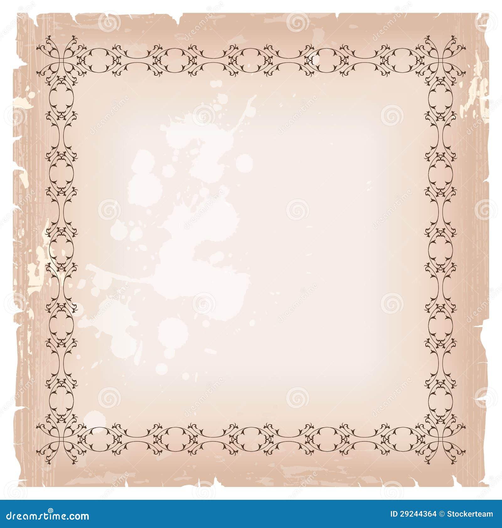 Download Molde Vazio Do Quadro Da Bandeira Em Cores Marrons Ilustração Stock - Ilustração de deco, projeto: 29244364