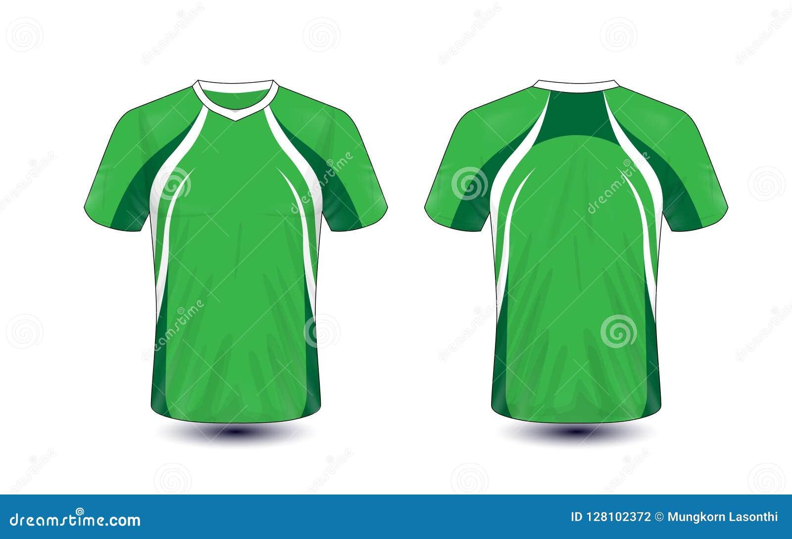 Molde verde e branco do projeto do t-shirt do e-esporte da disposição