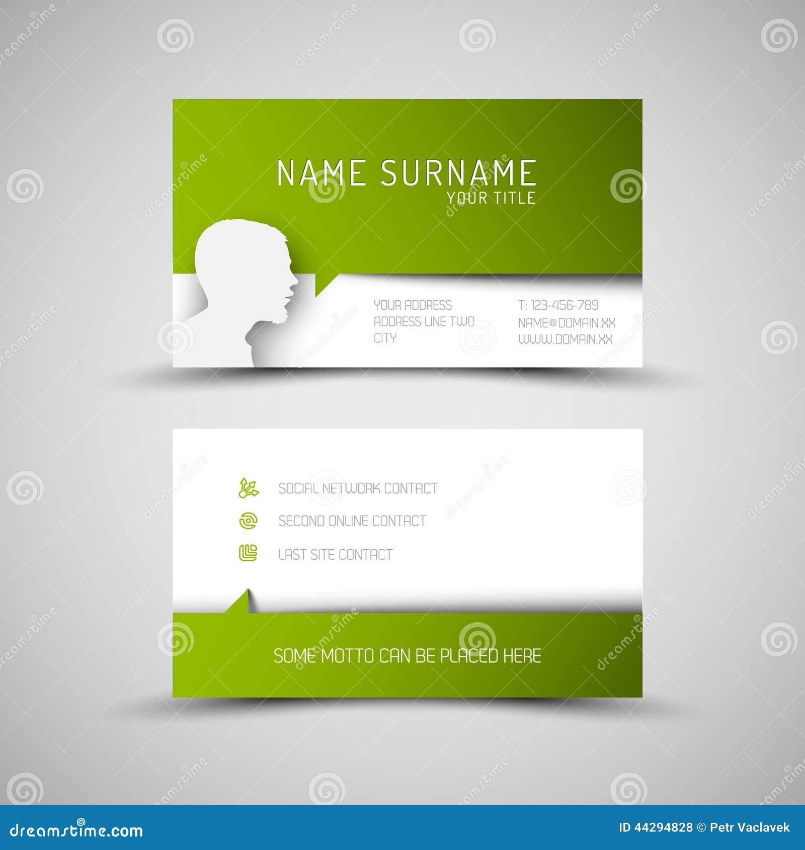 Molde verde simples moderno do carto com perfil de usurio discurso reheart Choice Image