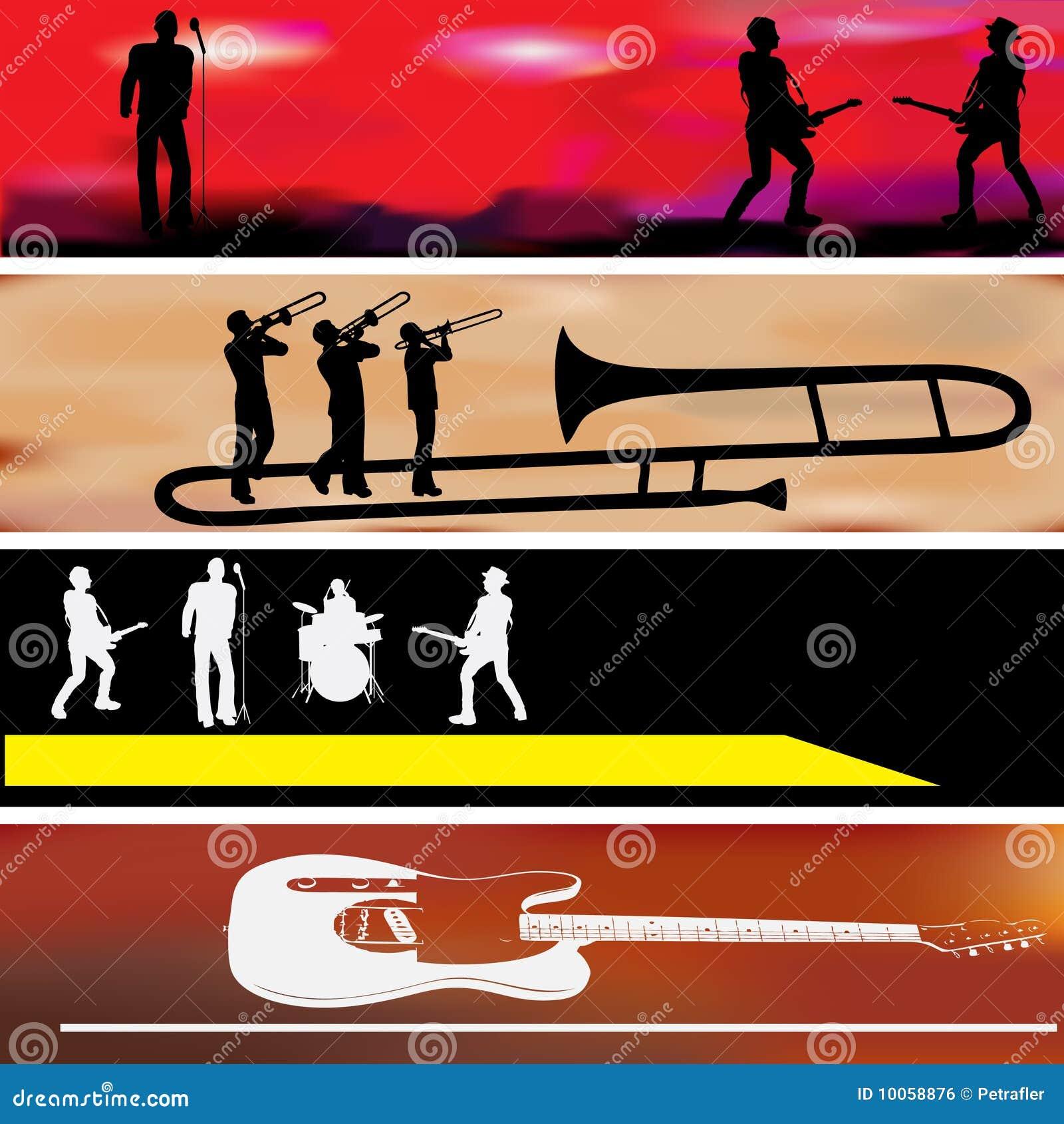 Moldes da bandeira do Web da música