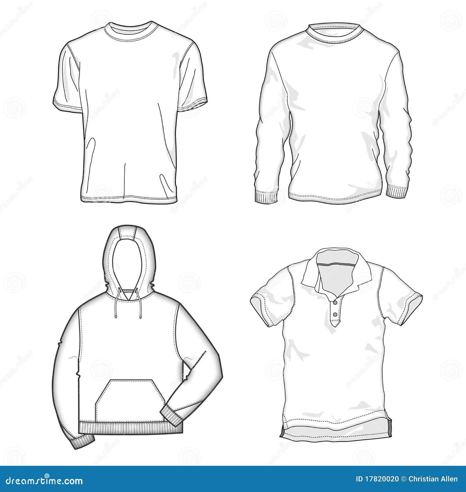moldes da camisa foto de stock imagem 17820020
