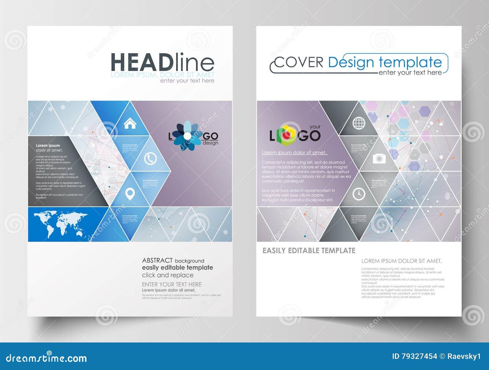 Moldes do negócio para o folheto, compartimento, inseto, brochura Cubra o molde do projeto, disposição lisa abstrata no tamanho A